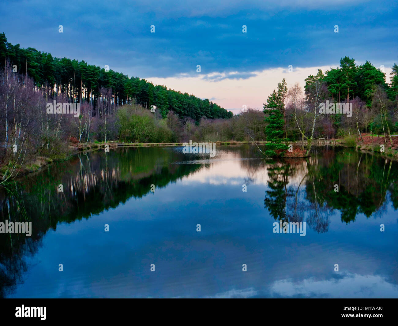 UK Weather; Loverly afternoon at the Fairoak Valley Pools on the Fairoak Trail, Cannock Chase, Staffordshire recommended - Stock Image