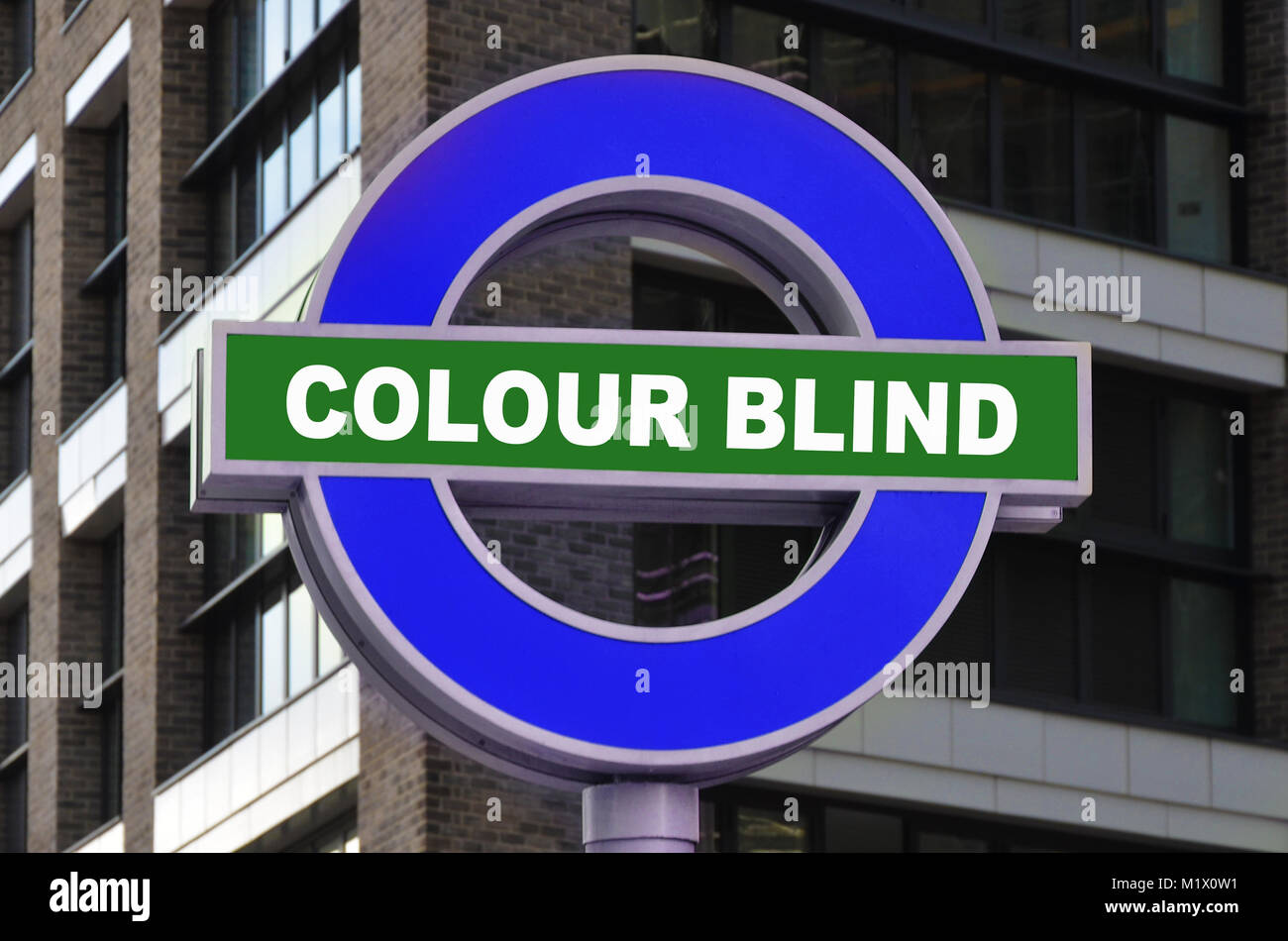 colour blind, visual difficulty, disability and accesses, optical, problems - Stock Image