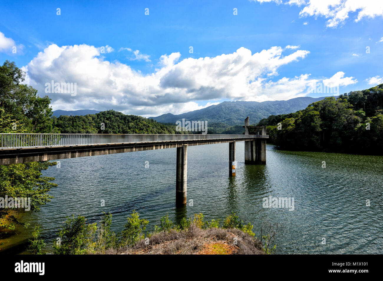View of Copperlode Dam Lake Morris, Cairns, Far North Queensland, FNQ, QLD, Australia - Stock Image