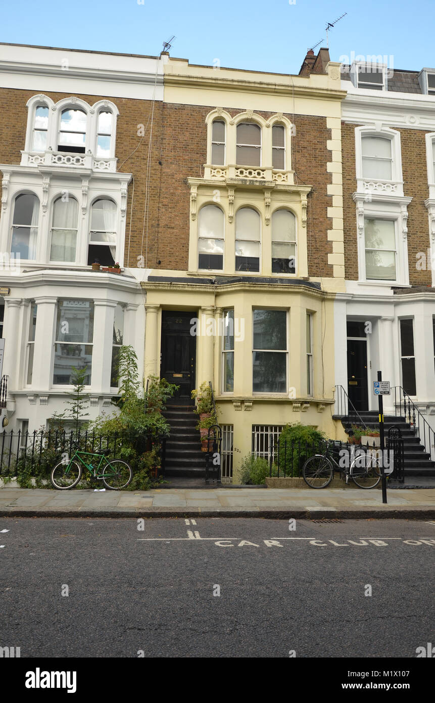 London town house, flats, rented property - Stock Image