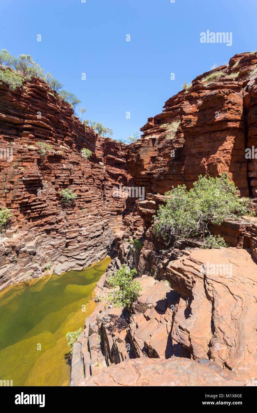 Joffrey Gorge, Karijini National Park, Western Australia. - Stock Image