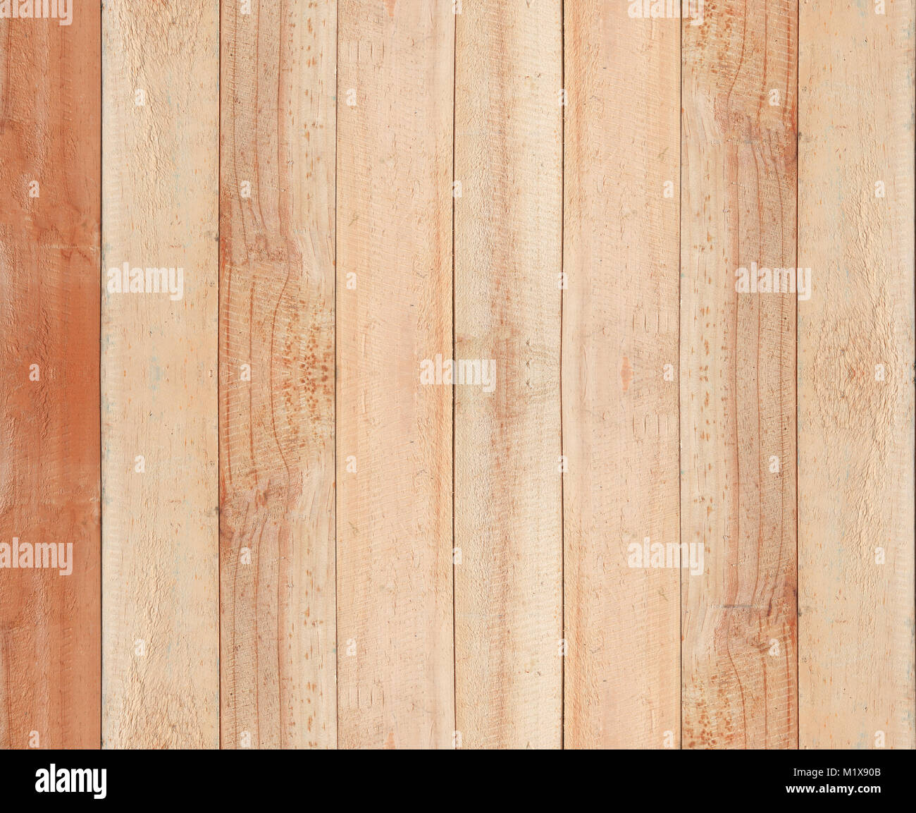 Close up brown wooden table texture background - Stock Image