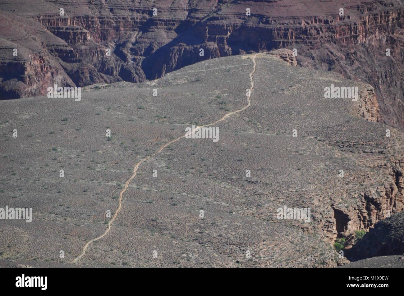Plateau Point Trail heading towards Plateau Point, Grand Canyon National Park, Arizona, USA - Stock Image