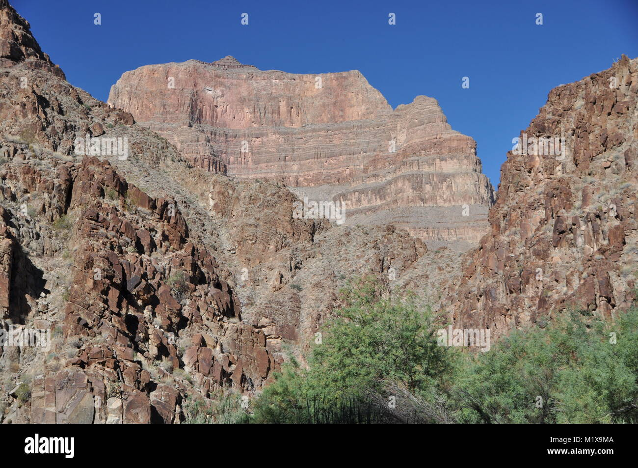 Peach Springs Canyon, a tributary to the Grand Canyon, Hualapai Indian Reservation, Arizona - Stock Image