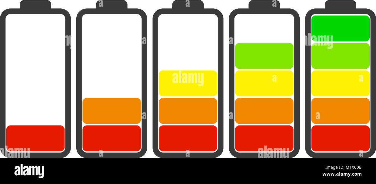Set Charge on white Vector - Stock Vector