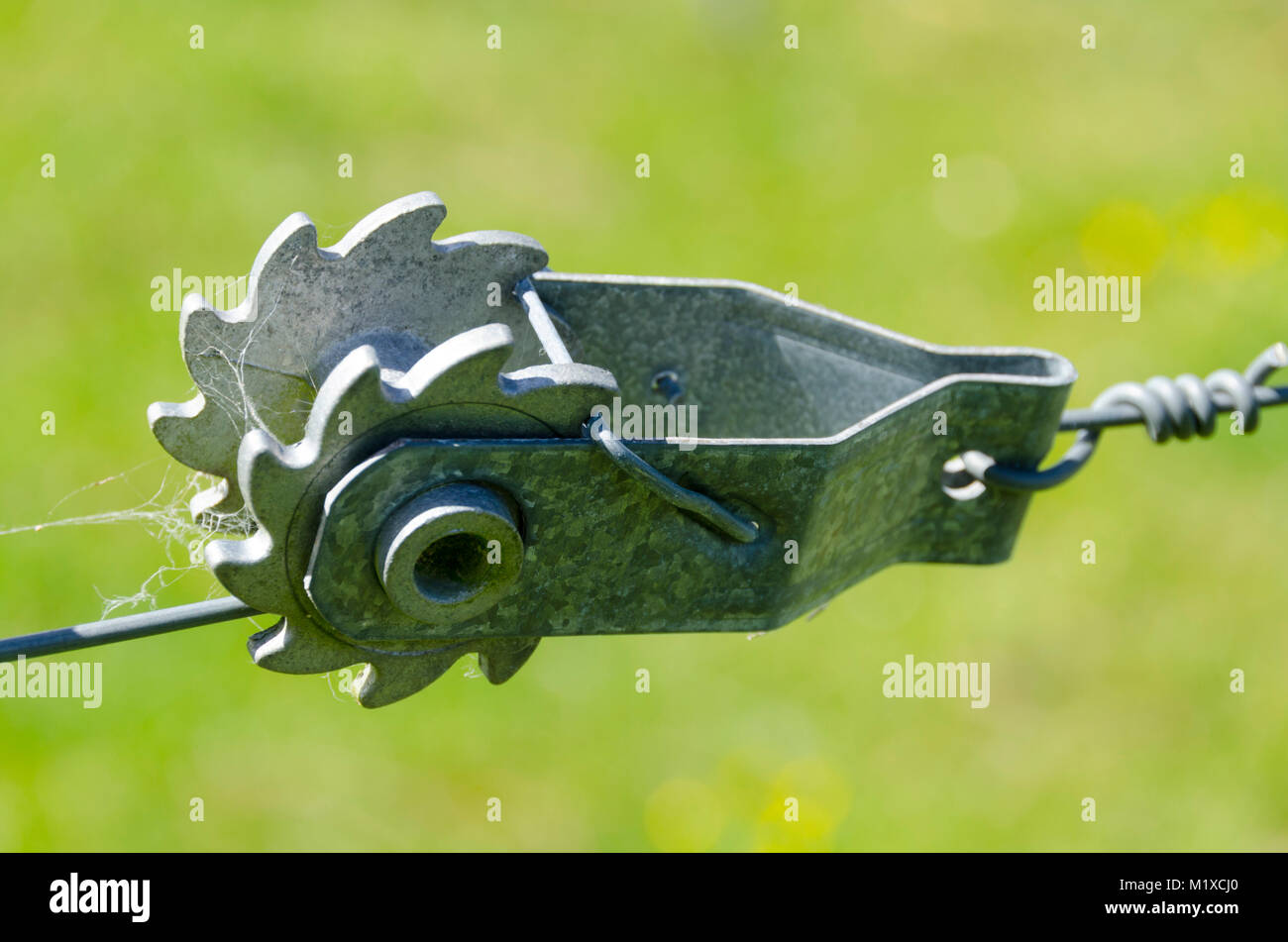 Farm fence wire tensioner Stock Photo: 173299000 - Alamy
