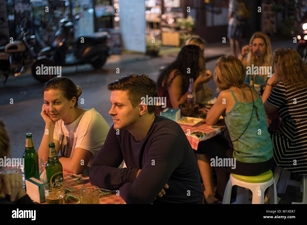 Chiang Mai nightlife. - Stock Image