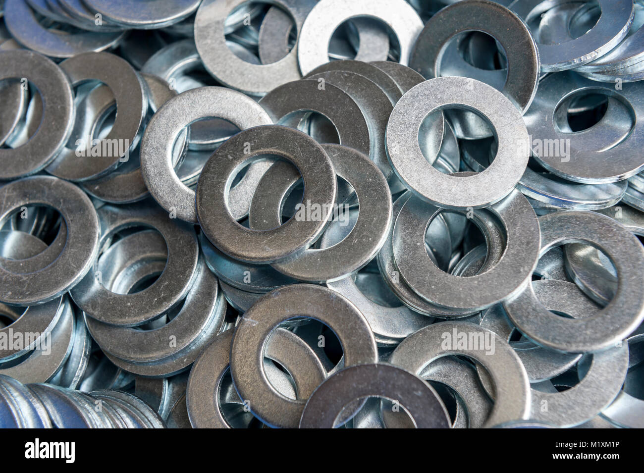 Box  of washers - Stock Image