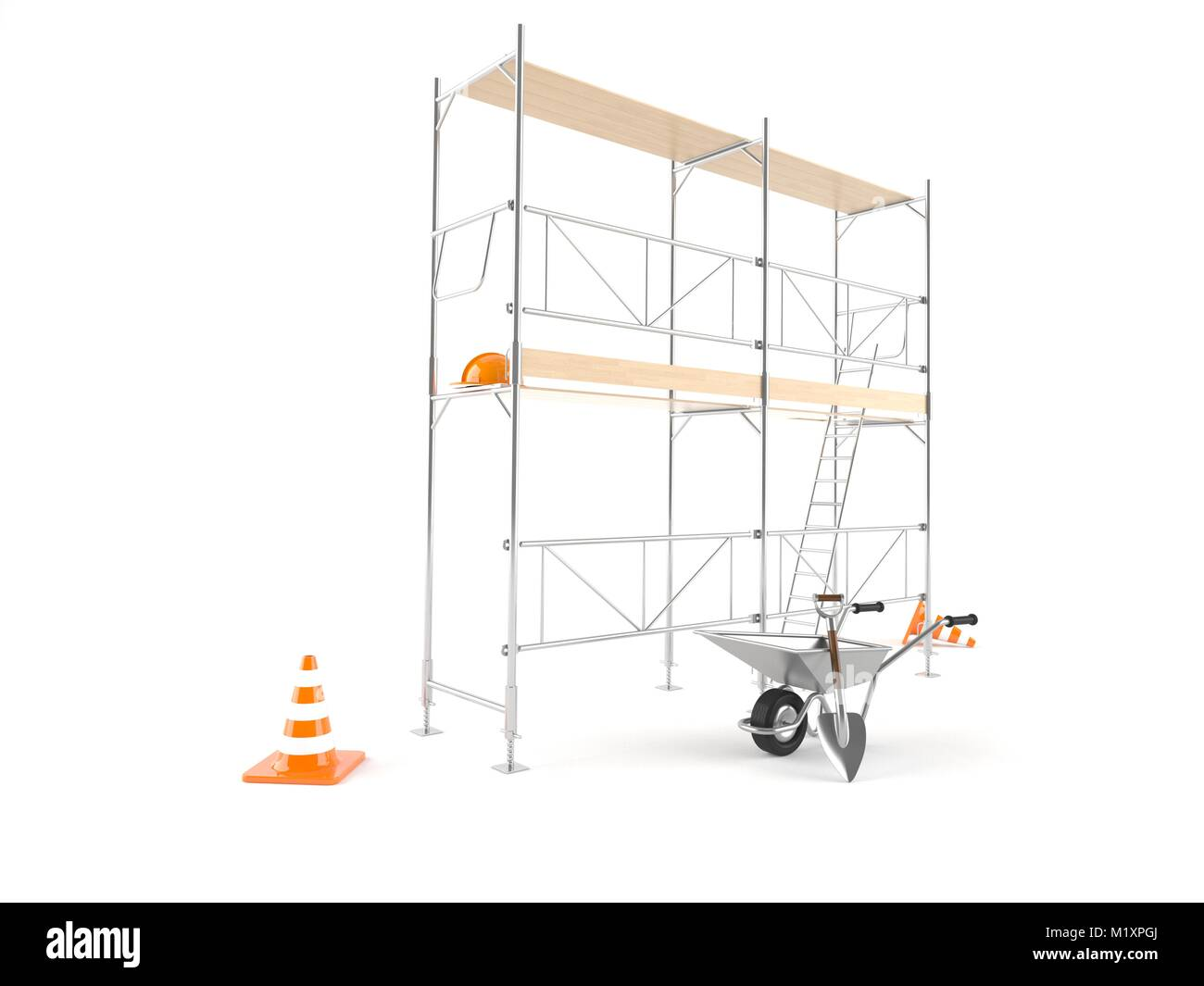 Scaffold isolated on white background Stock Photo