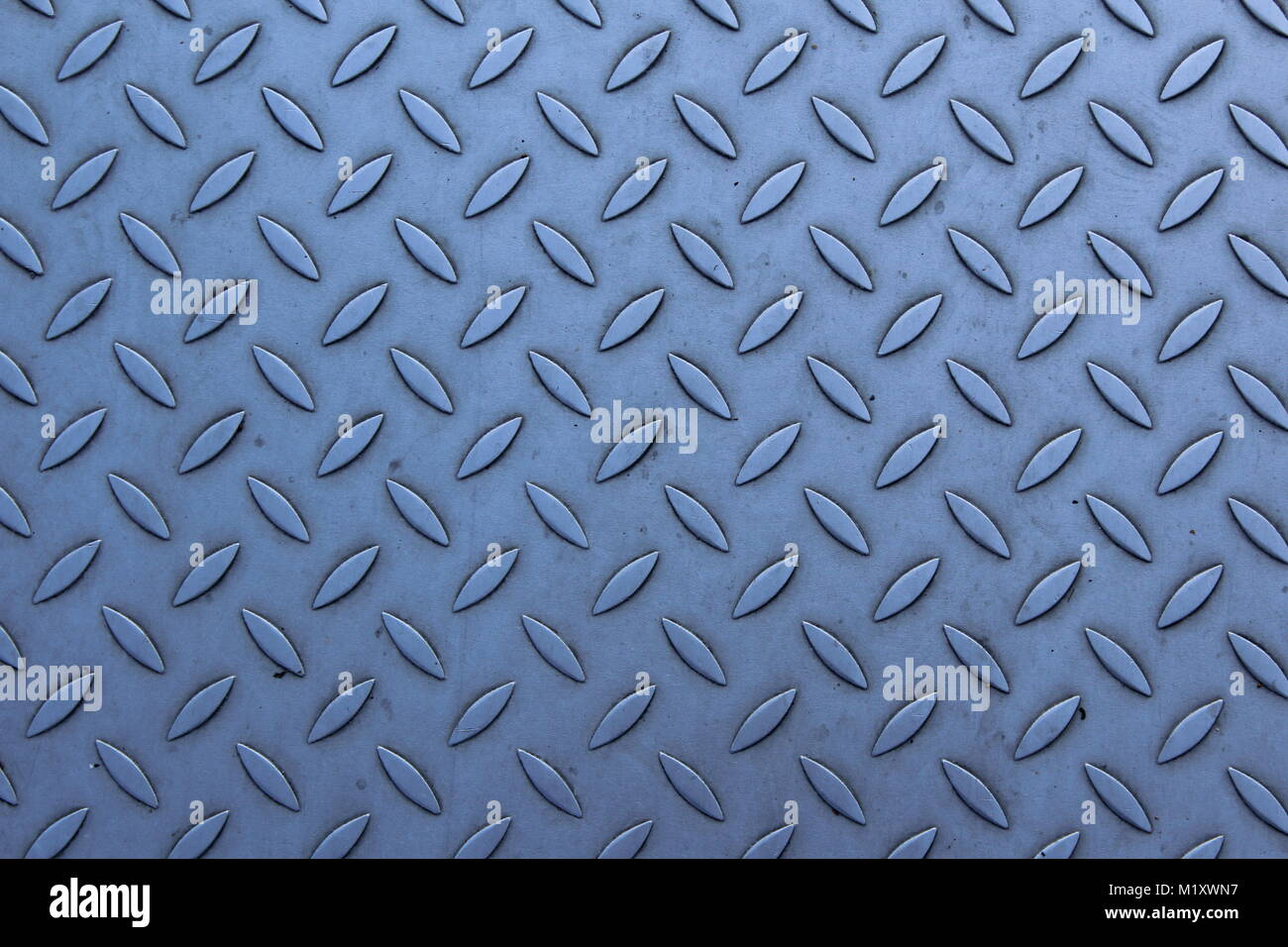diamond plate as a background texture - Stock Image