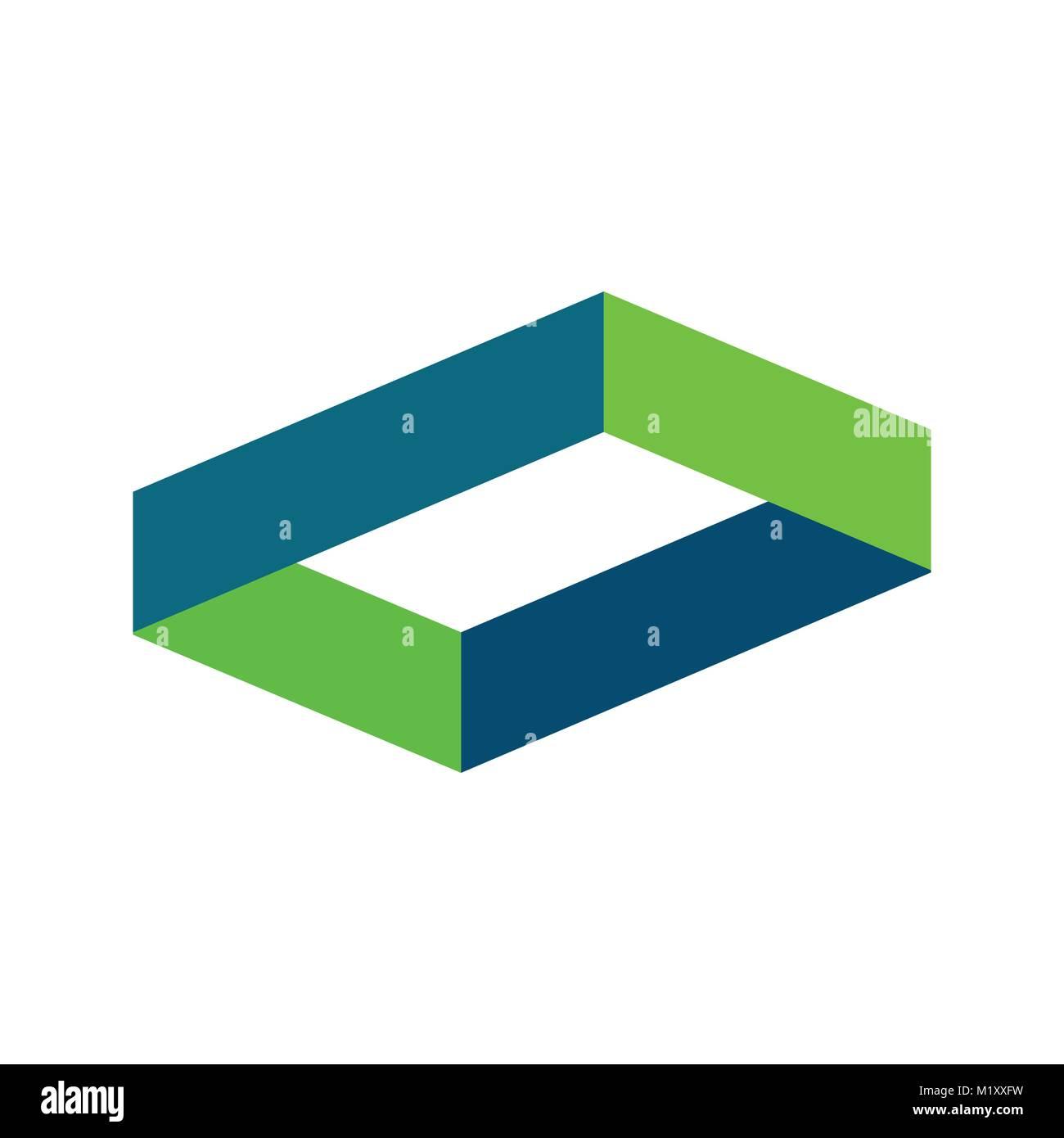 Hexagonal Shape Intersection Symbol Vector Illustration Graphic