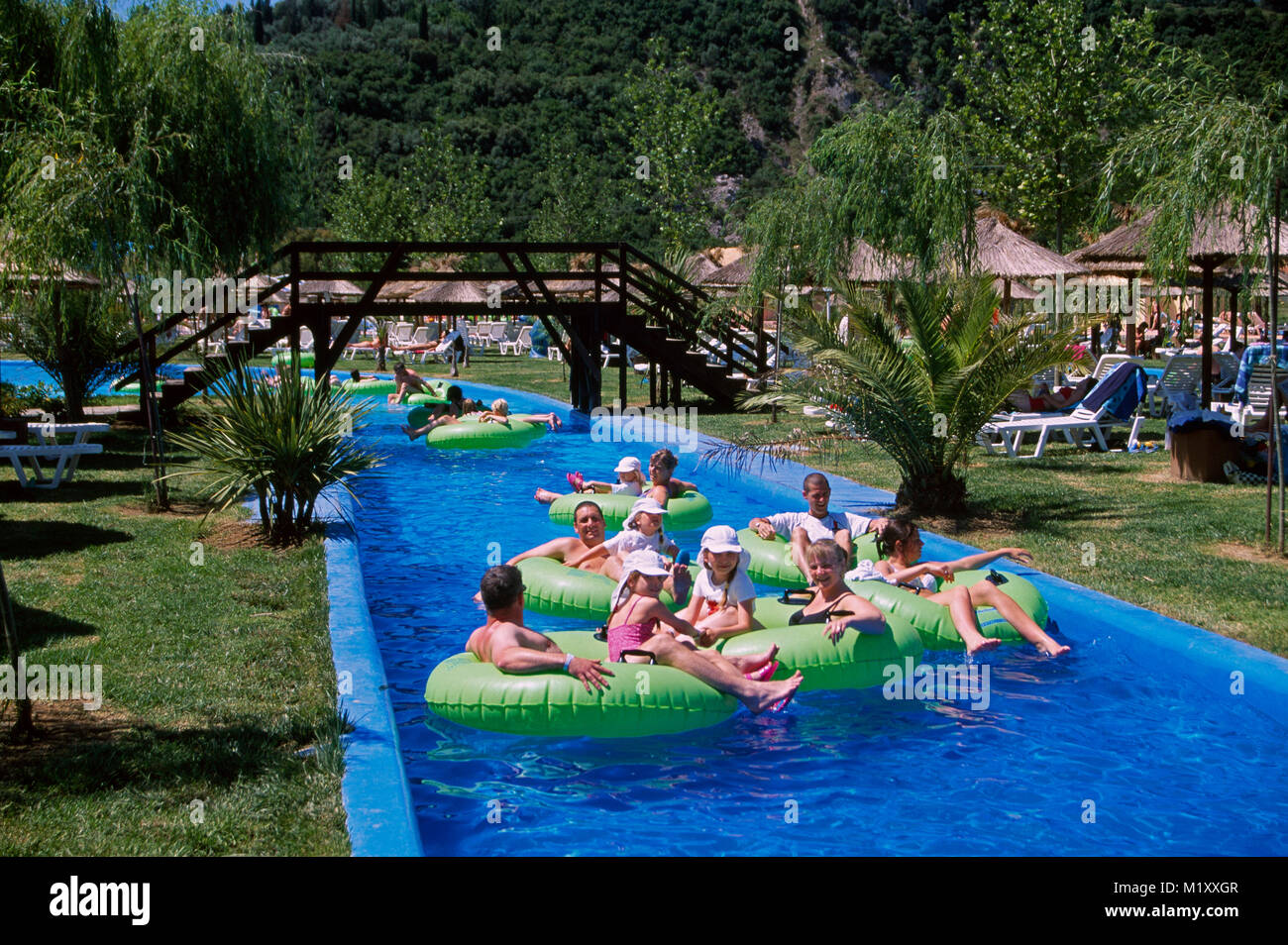 Aqualand Water Park,  Corfu, Greece, Europe - Stock Image