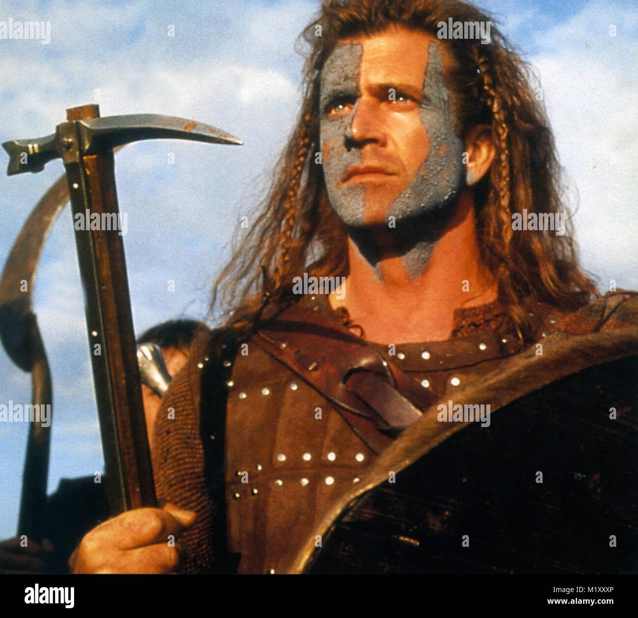 BRAVEHEART 1995 Icon Entertainment film with Mel Gibson - Stock Image