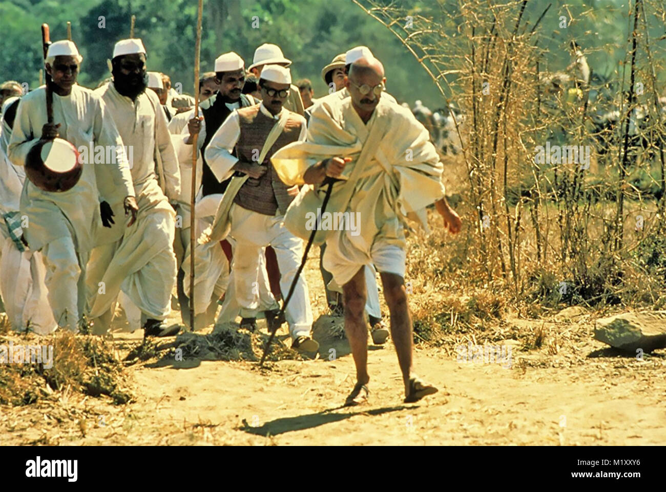 GANDHI 1982 International Film Investors film with Ben Kingsley - Stock Image