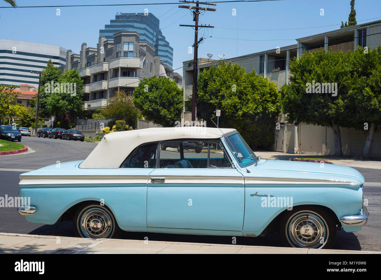An American Rambler in Los Angeles. Stock Photo