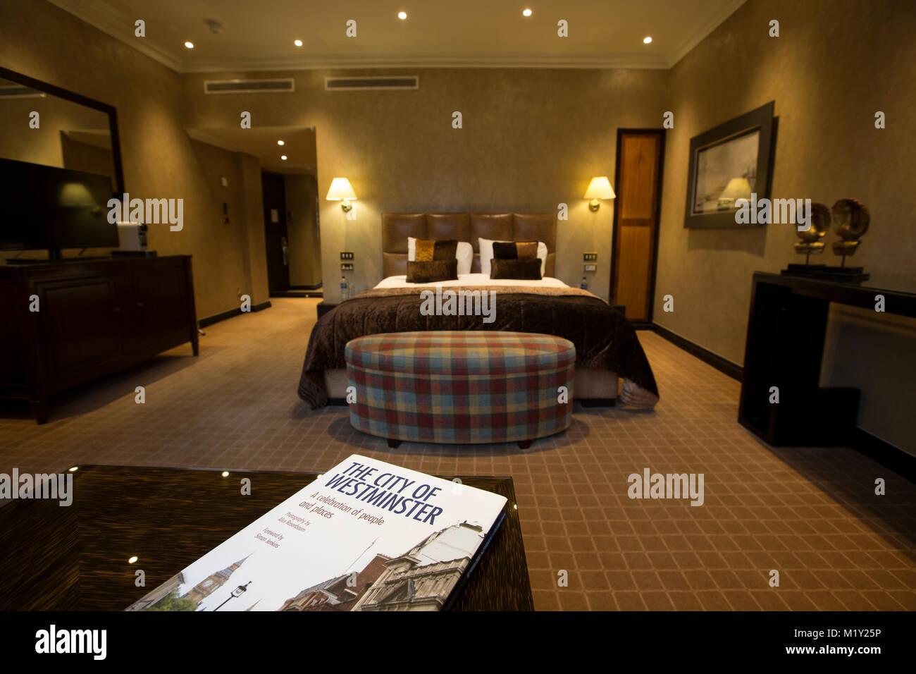 Radisson Blu Edwardian Hampshire, Leicester Square Hotel, near Theatre land, Soho, London, England, UK - Stock Image