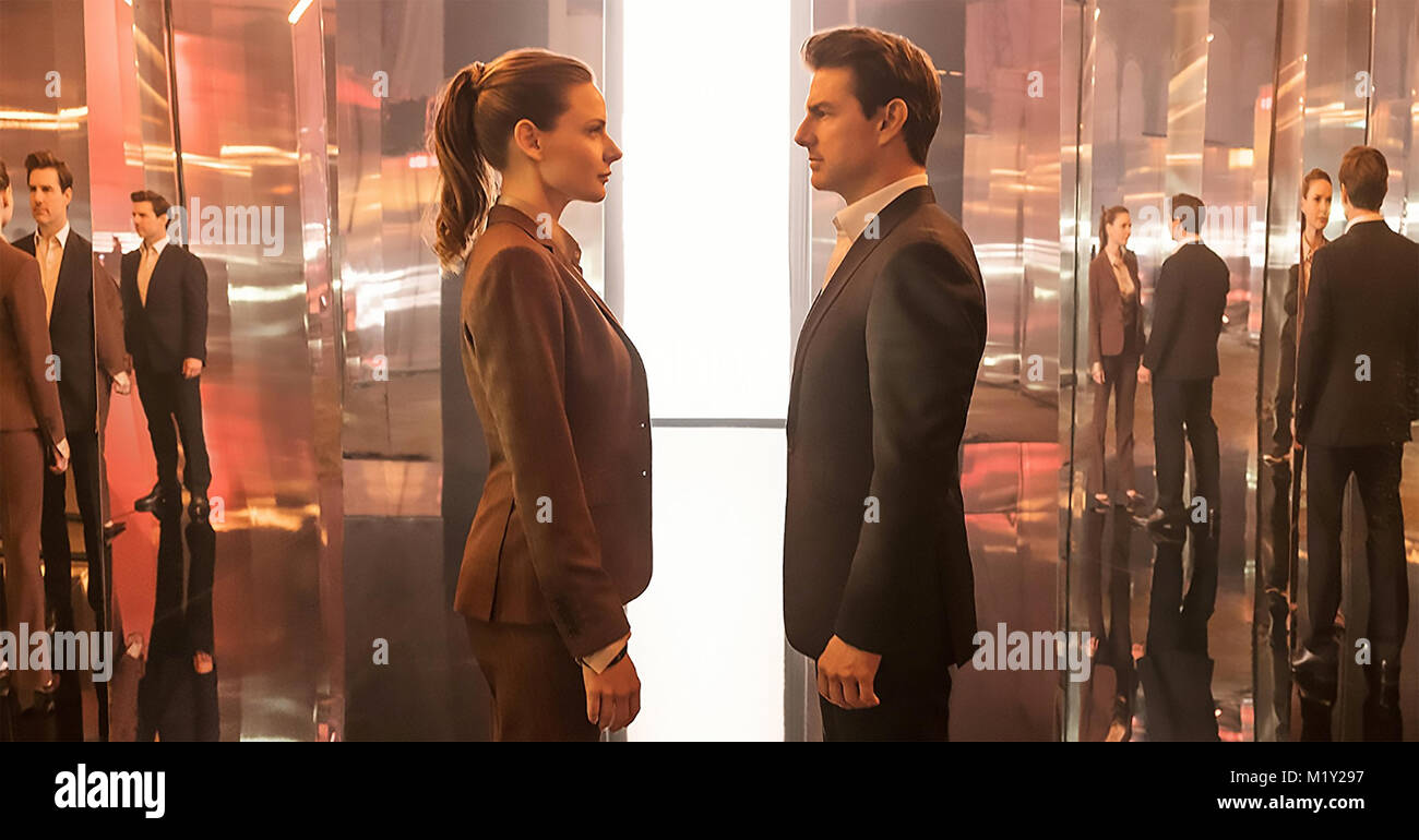 MISSION: IMPOSSIBLE - FALLOUT 2018 Paramount Pictures film with Rebecca Ferguson and Tom Cruise Stock Photo