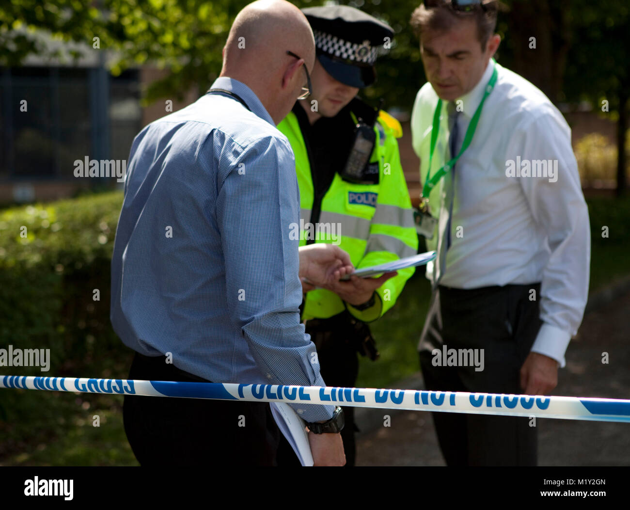© RICH BOWEN. 27/05/2012. Bracknell, Berkshire, U.K. Thames Valley Police has launched an investigation into - Stock Image