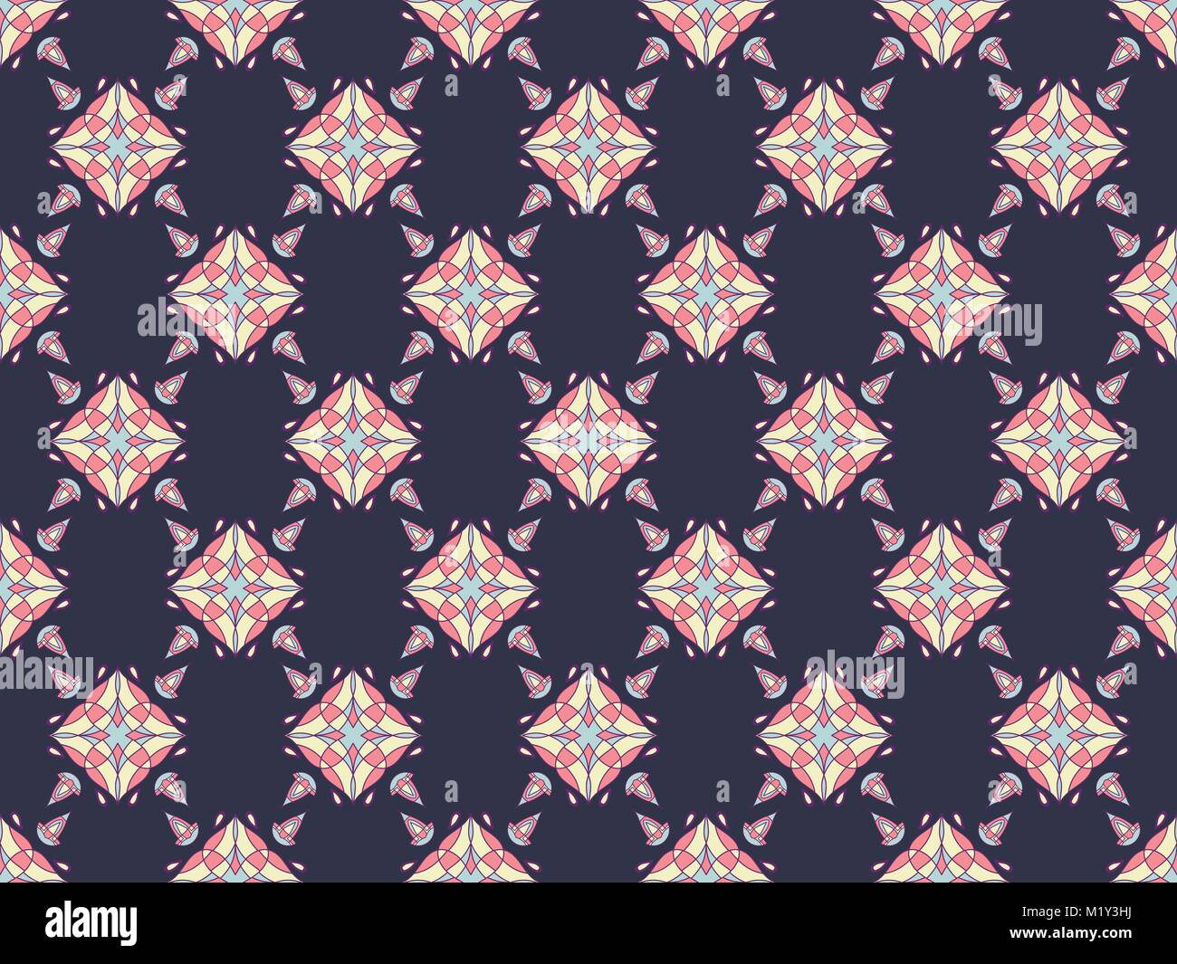 Seamless Ornament Pattern For Textile And Wallpaper