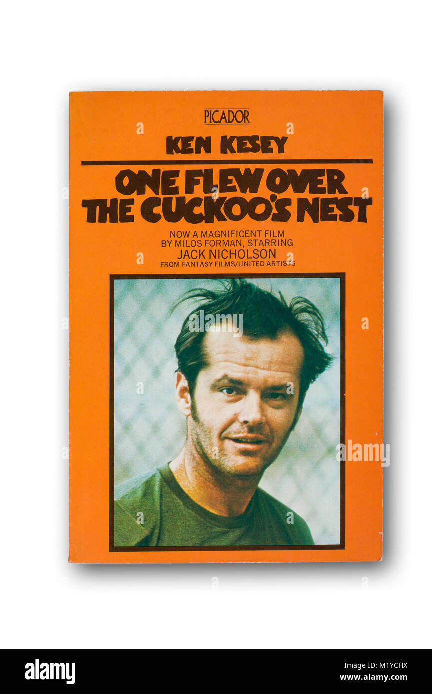 'One Flew Over the Cuckoo's Nest' novel by Ken Kesey - Stock Image