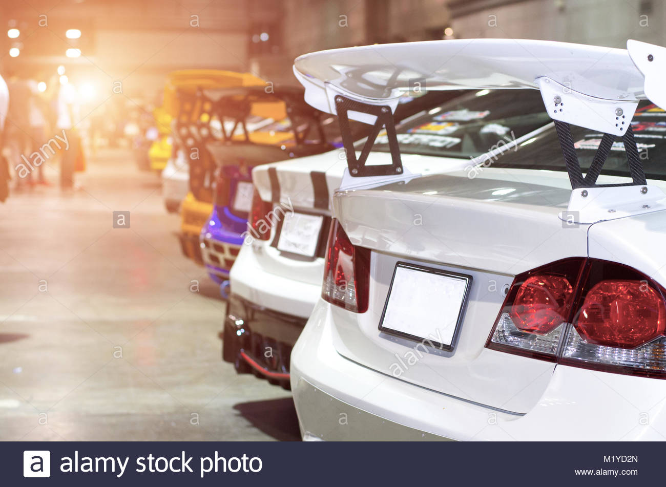 Tail lights - Stock Image