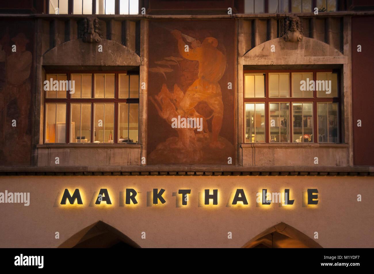 Markthalle, markethall, Stuttgart, Baden-Wuerttemberg, Deutschland, Germany, Europa - Stock Image