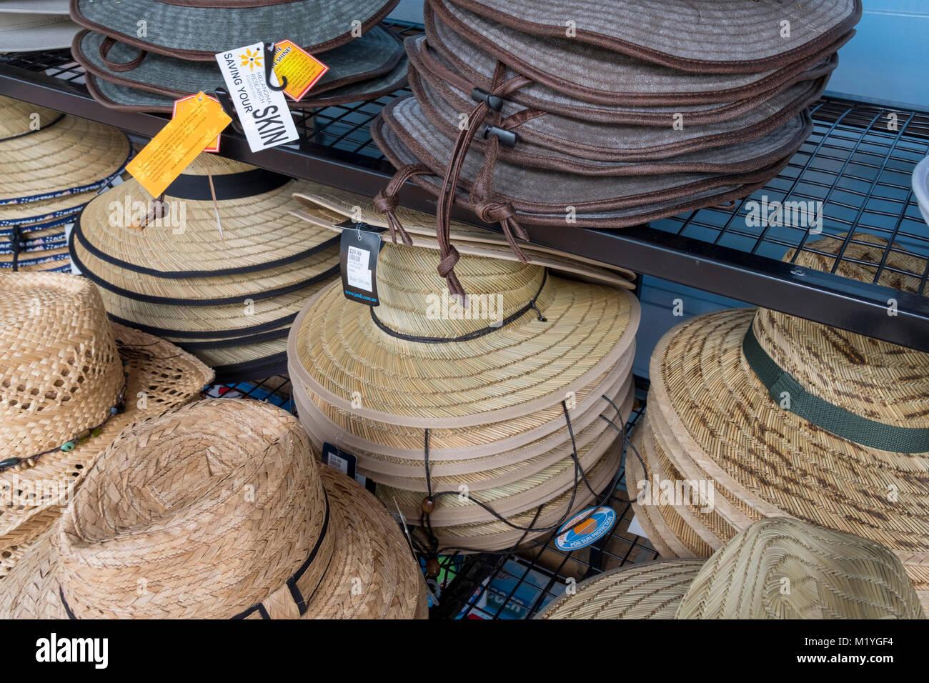 d449e83297 Australian mens hats on sale at a shop in Port Douglas,Australia - Stock  Image