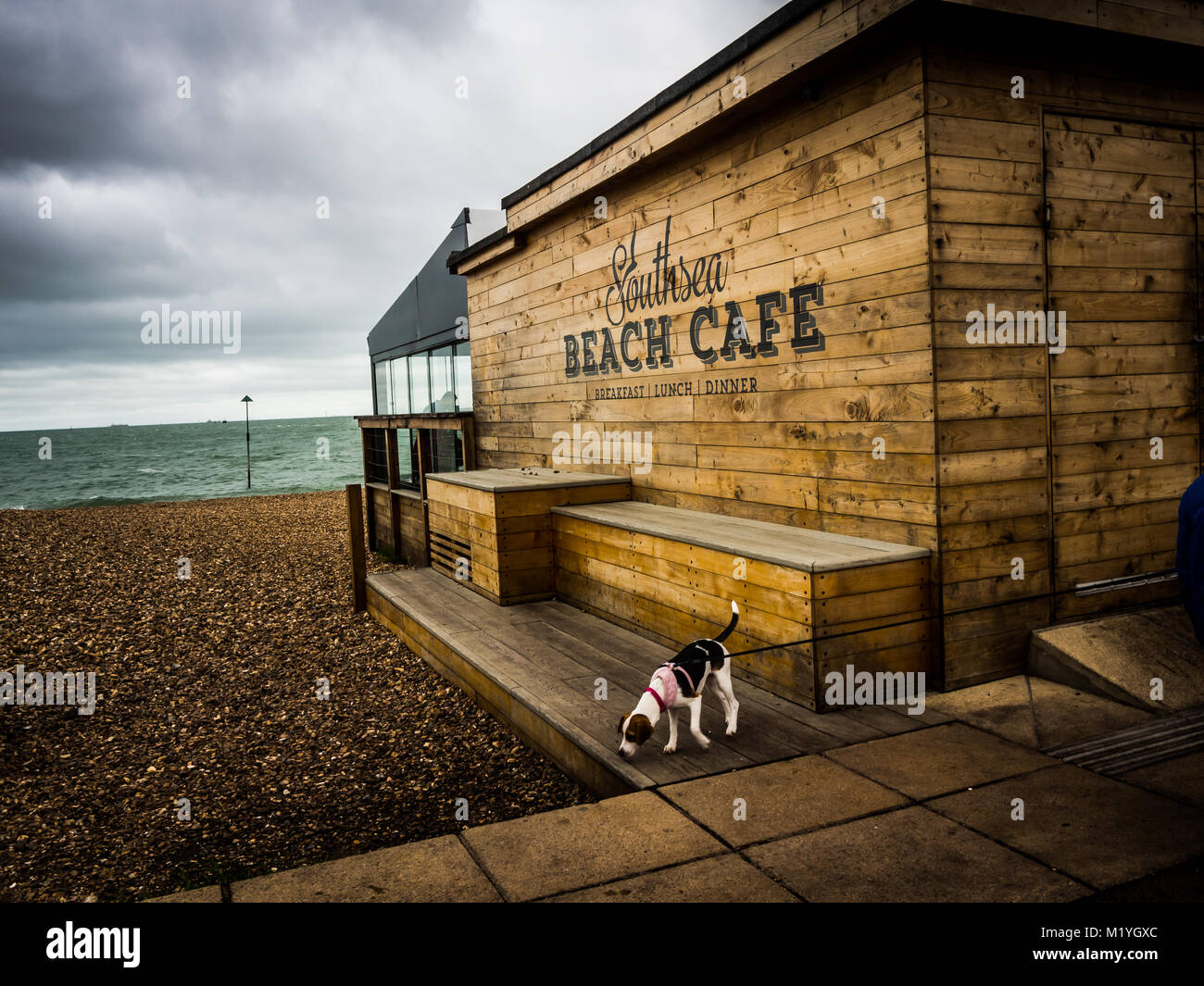 Southsea Beach Cafe, Southsea Seafront, Portsmouth, England - Stock Image