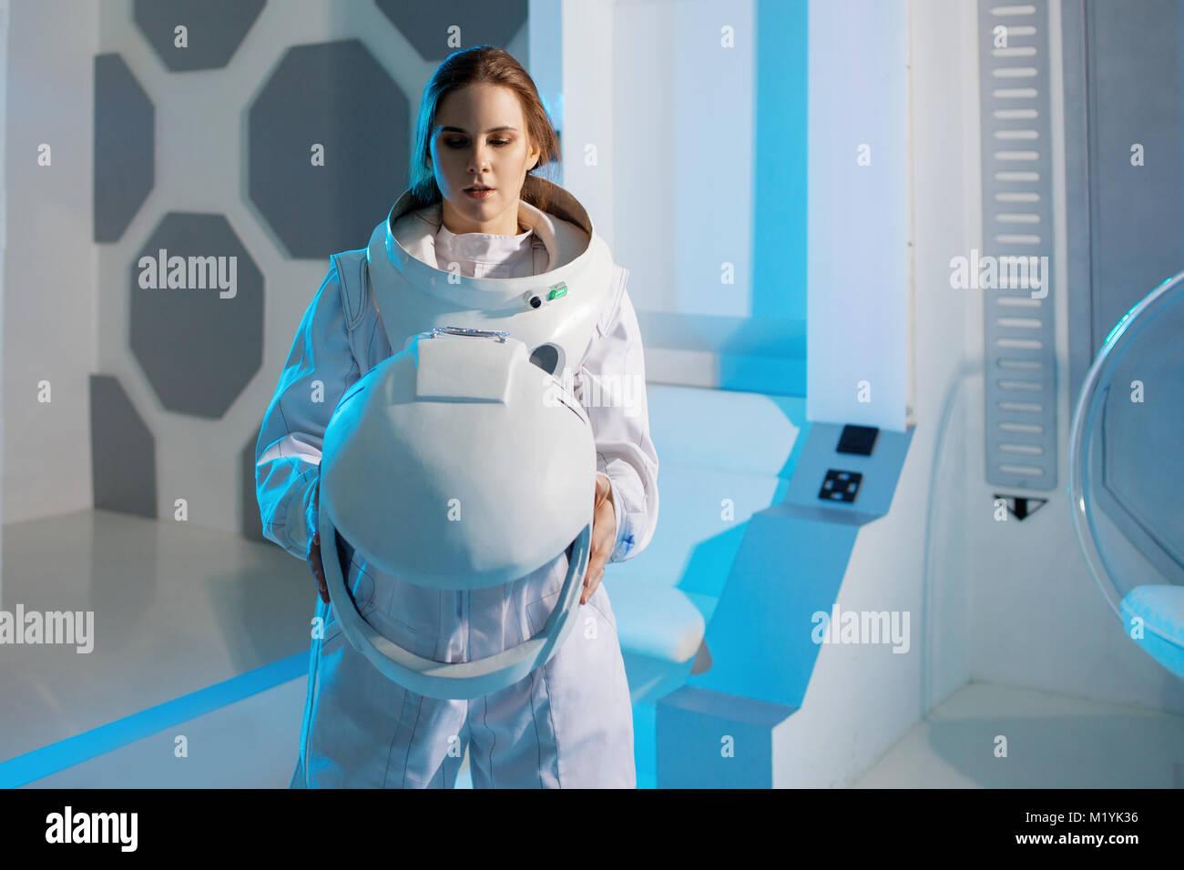 woman astronaut in diaper - HD1300×956