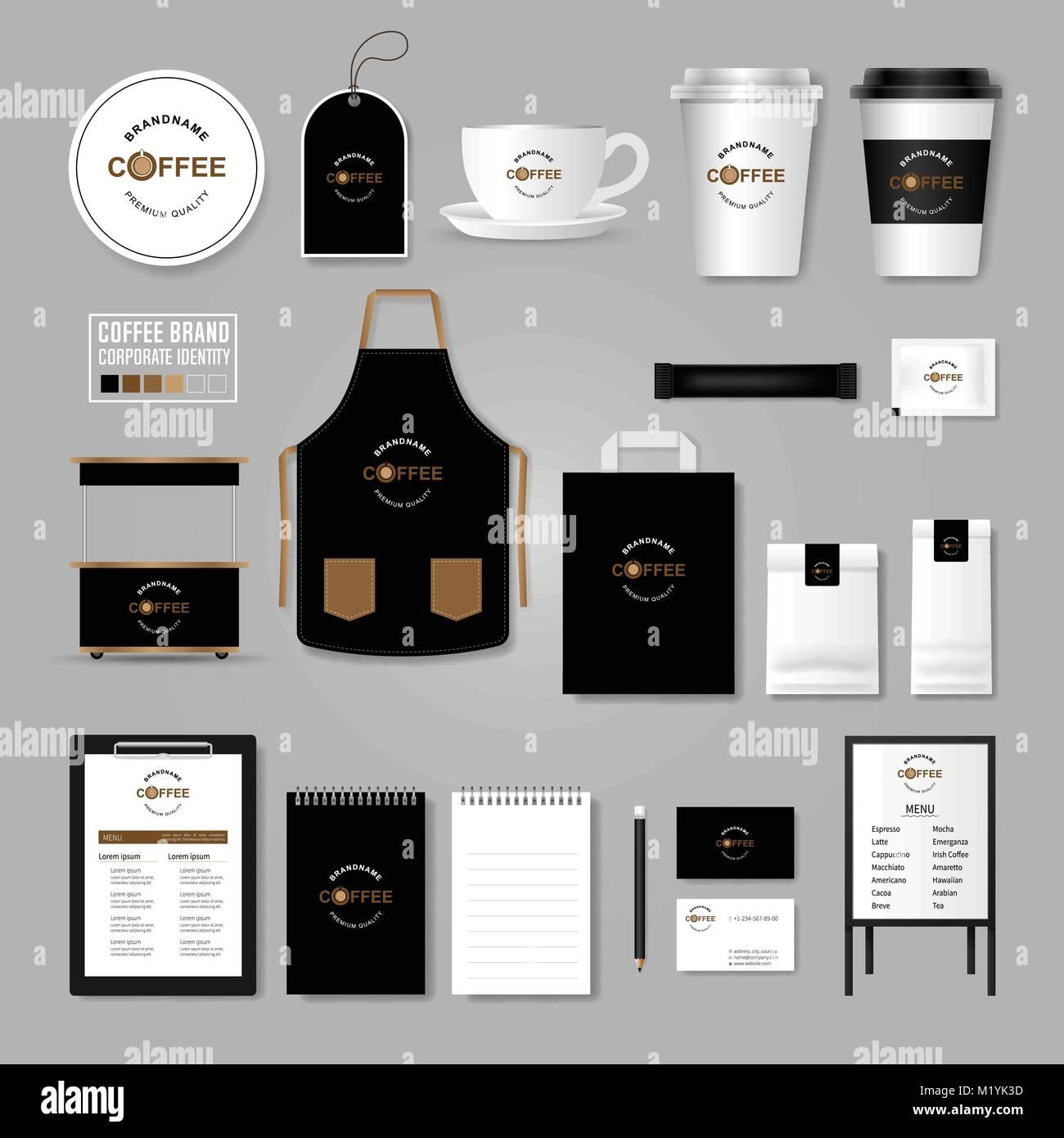Coffee Logo Vector Creative Label Stock Photos & Coffee