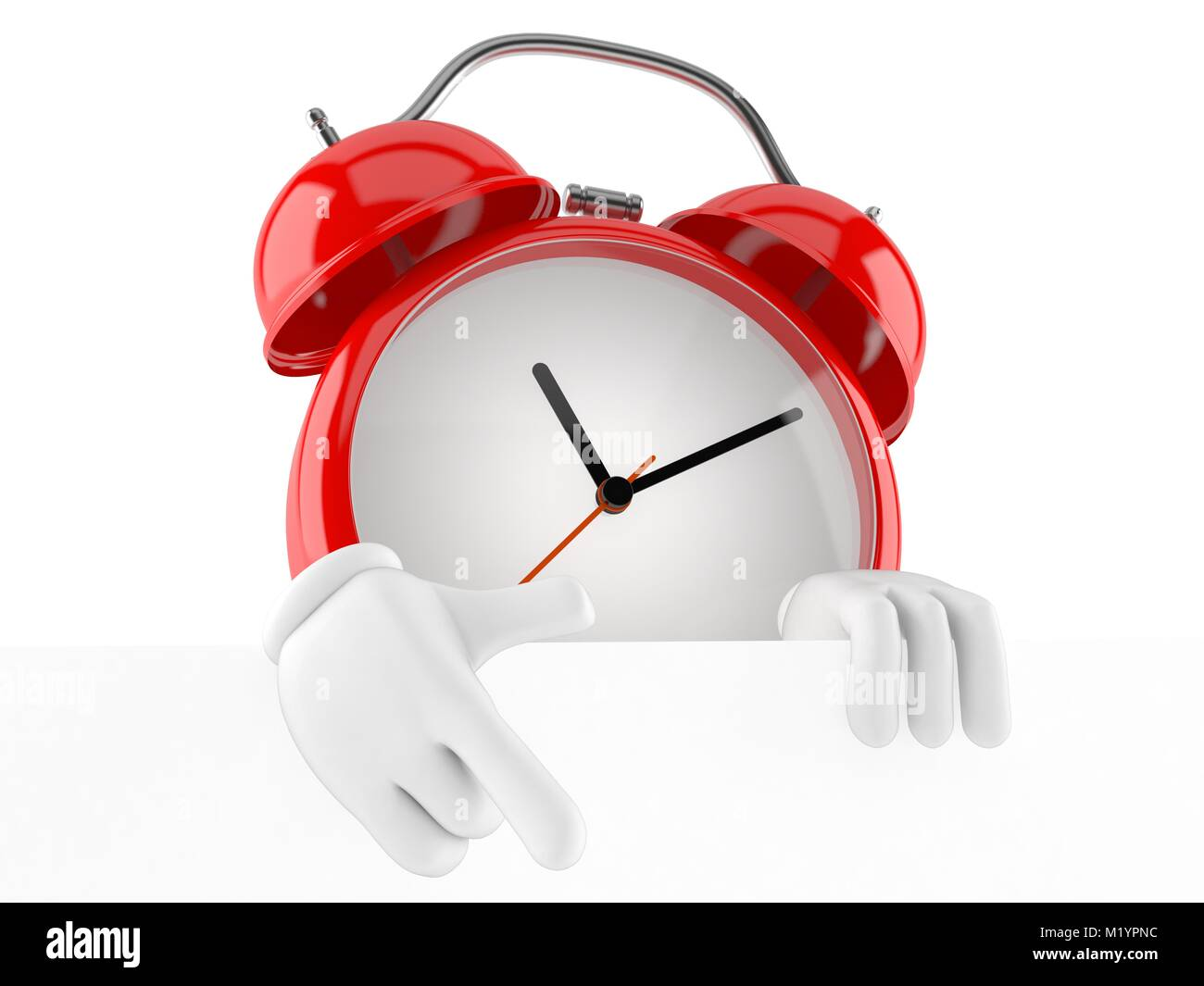 Character Alarm Clock Isolated On Stock Photos & Character