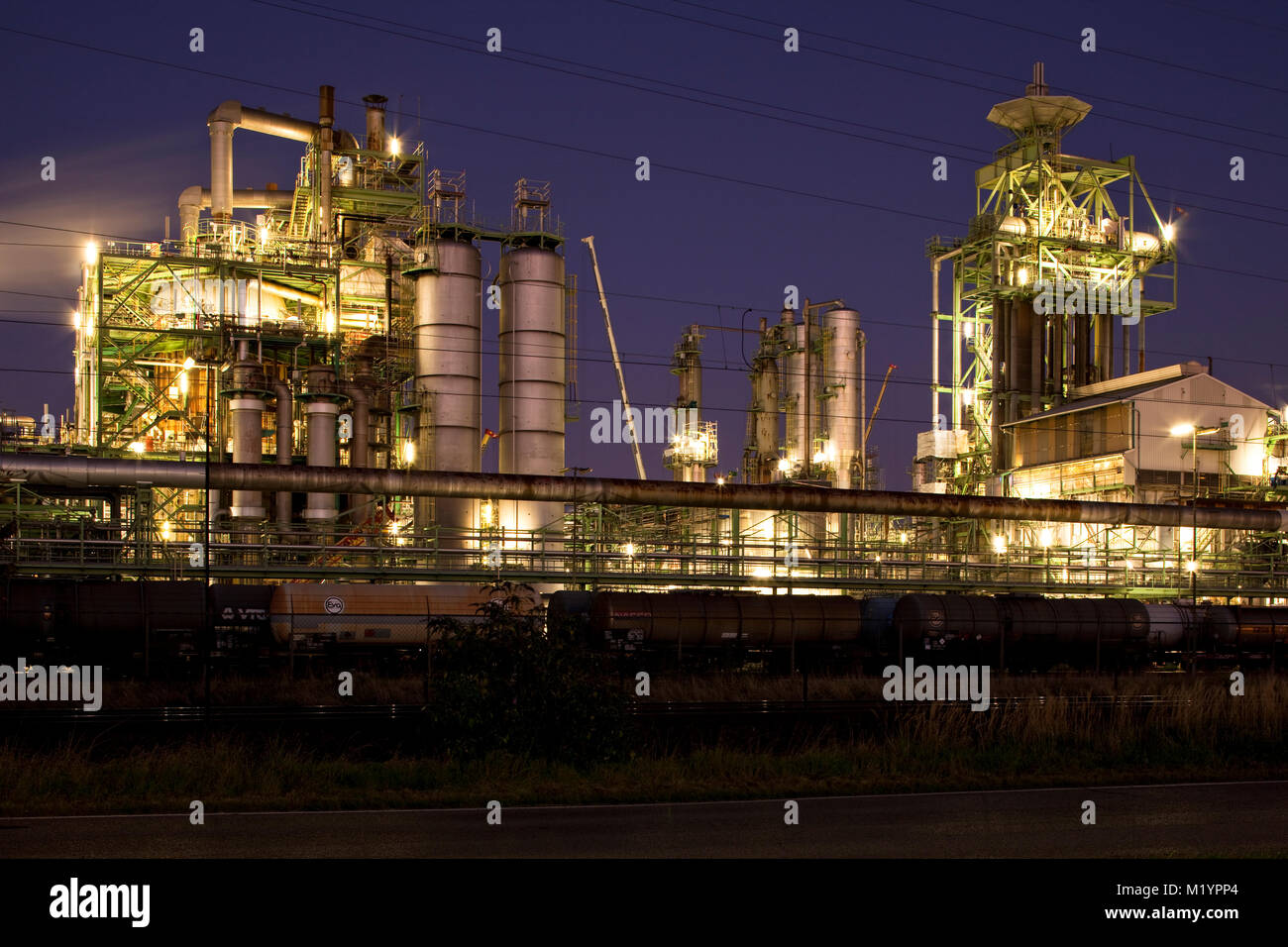 Chemical plant in Dormagen, Germany - Stock Image