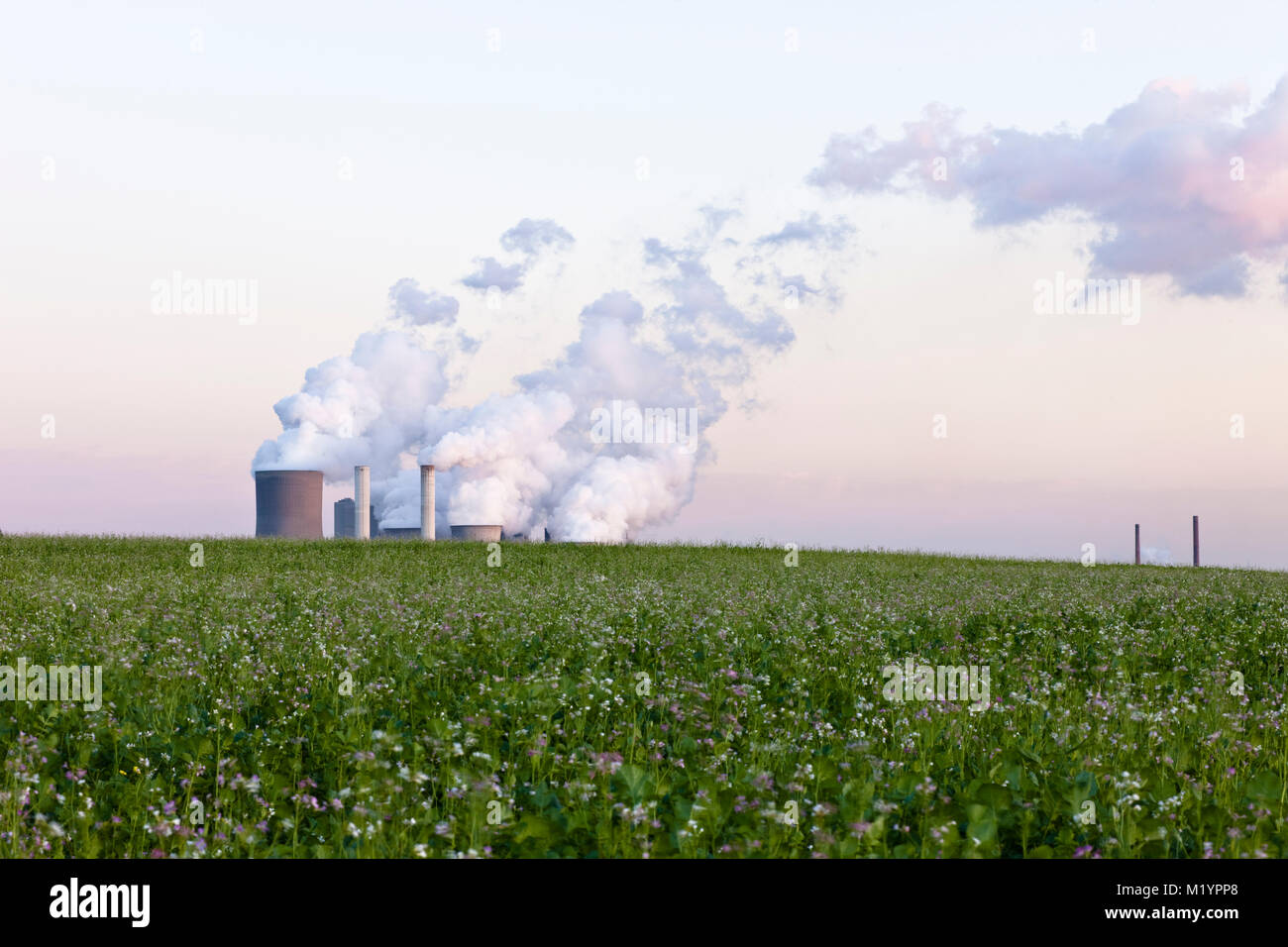 Ignite-fired power plant Niederaussem in the Cologne area, Germany - Stock Image