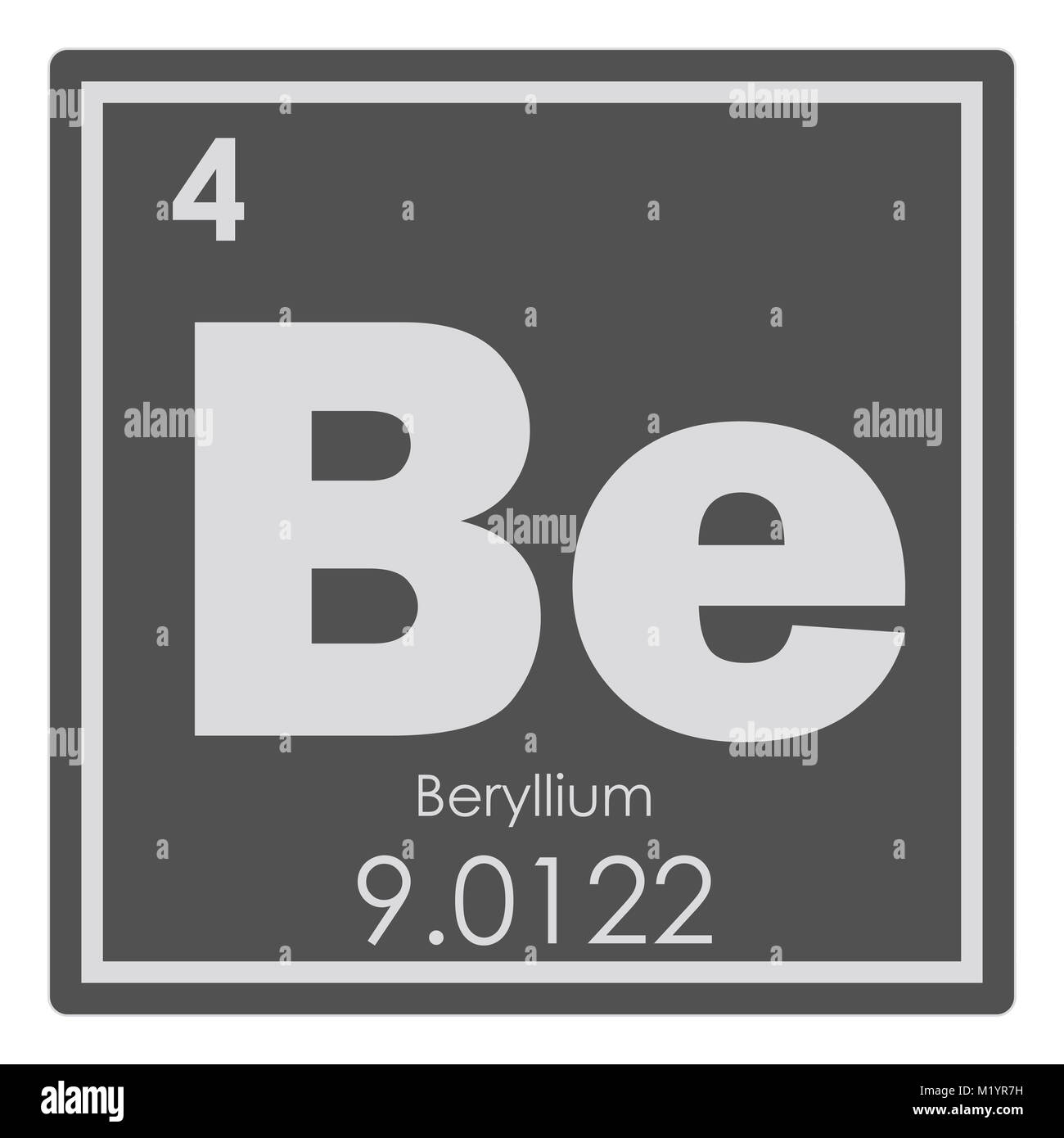 Beryllium atom stock photos beryllium atom stock images alamy beryllium chemical element periodic table science symbol stock image urtaz Image collections