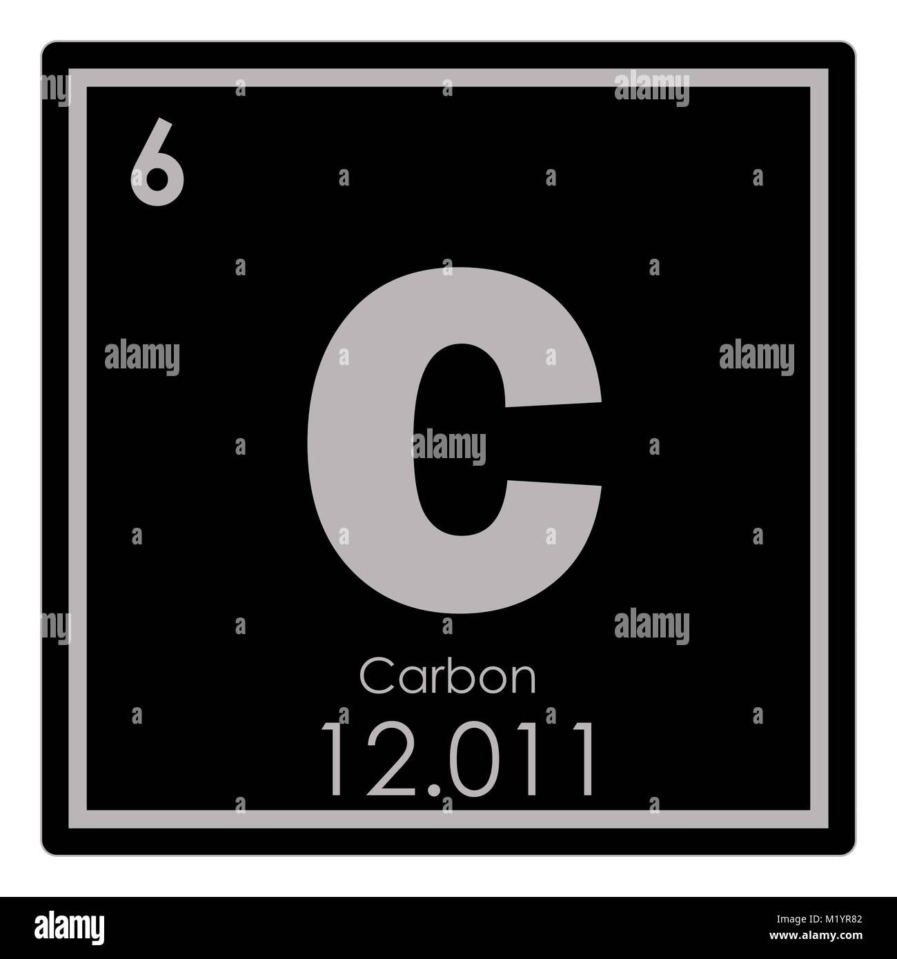 carbon chemical element periodic table science symbol