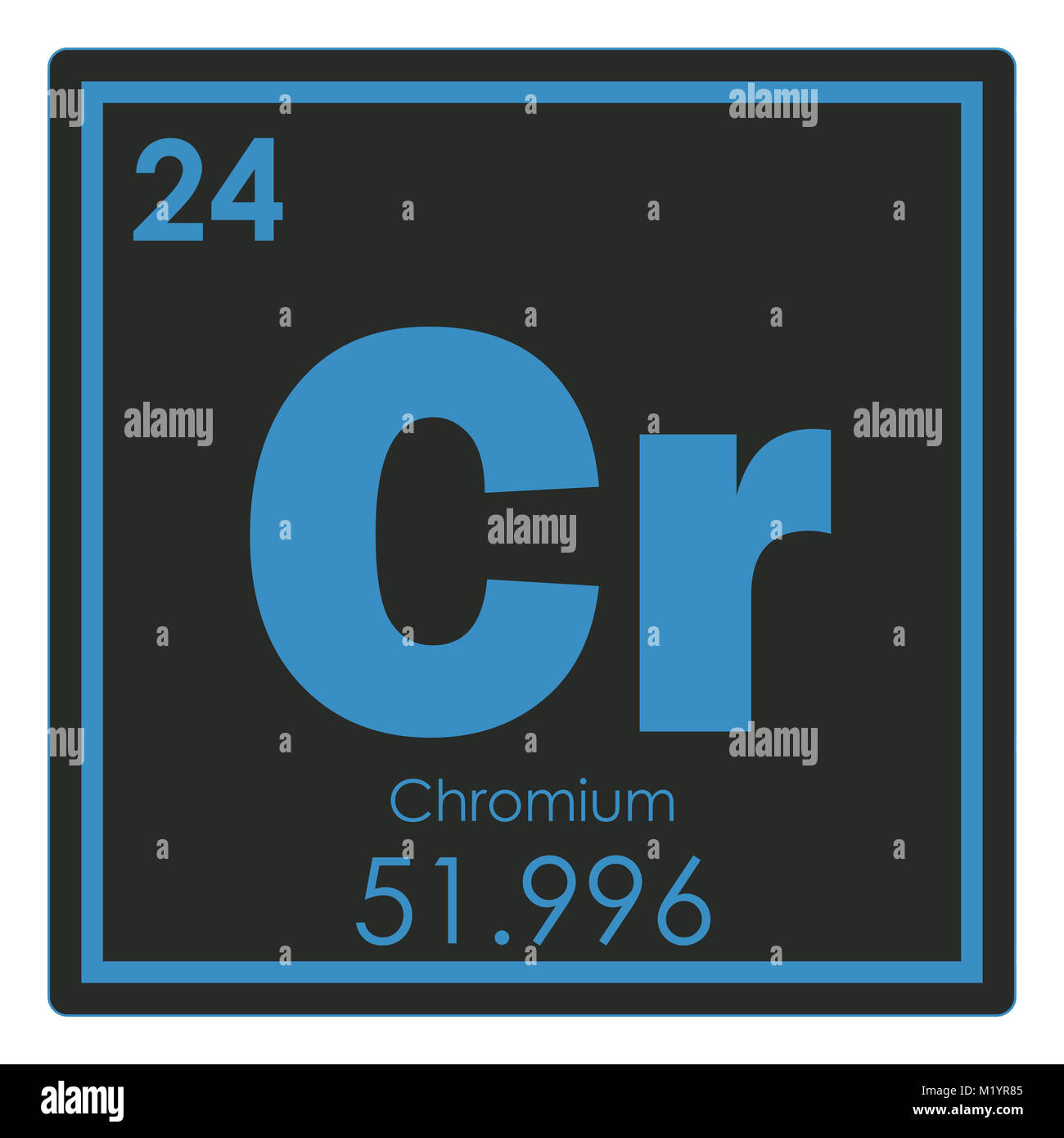 Chromium chemical stock photos chromium chemical stock images alamy chromium chemical element periodic table science symbol stock image urtaz Gallery