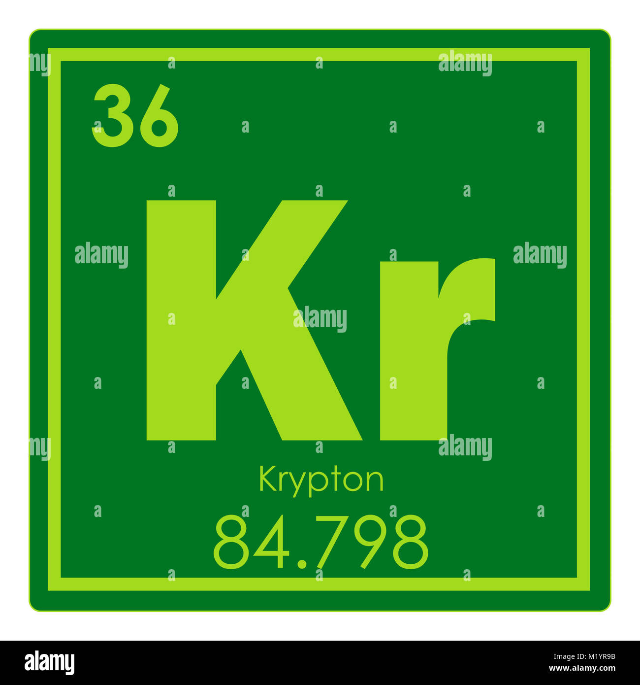 Krypton Chemical Element Stock Photos Krypton Chemical Element
