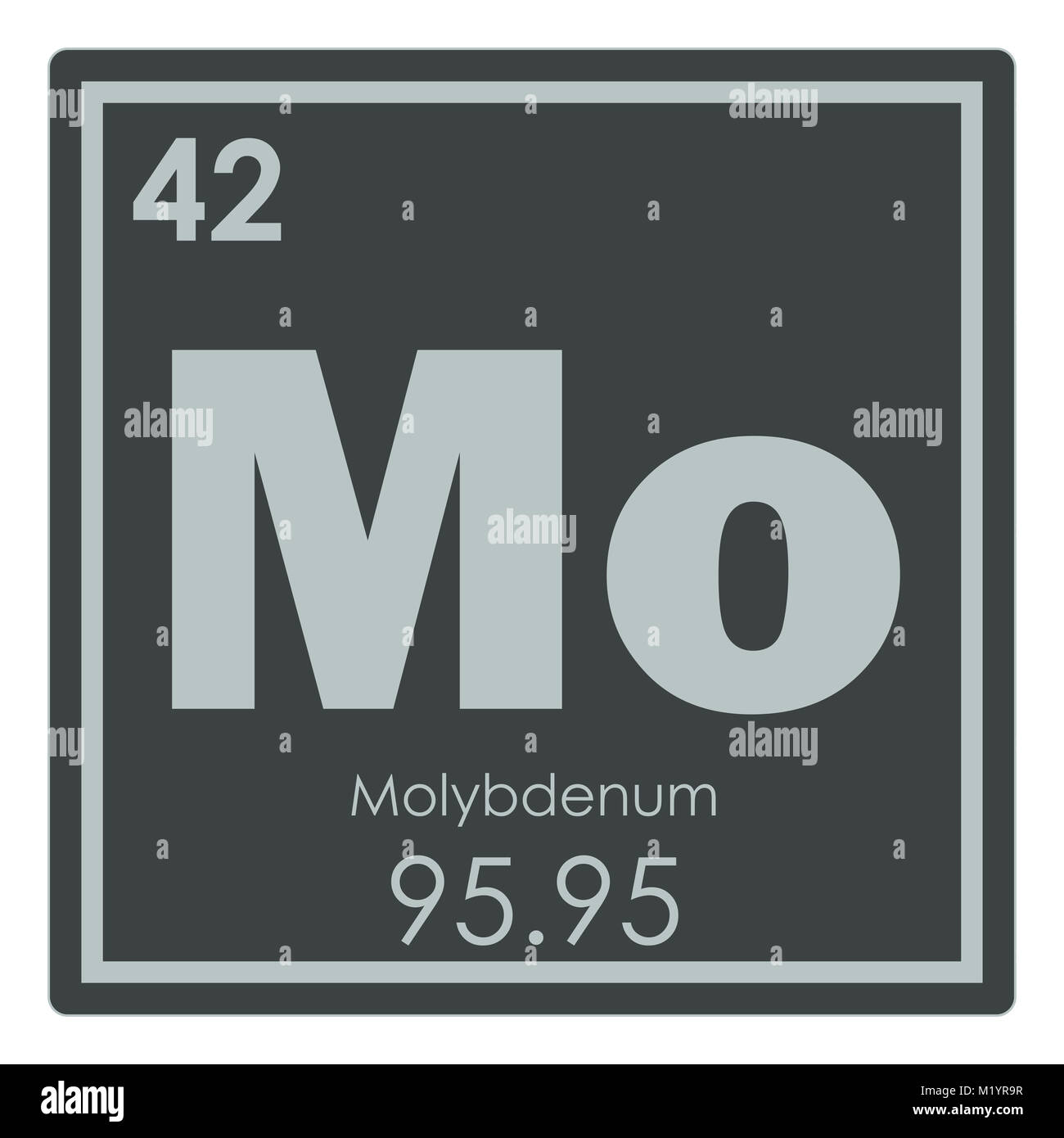 Molybdenum Chemical Element Periodic Table Science Symbol Stock