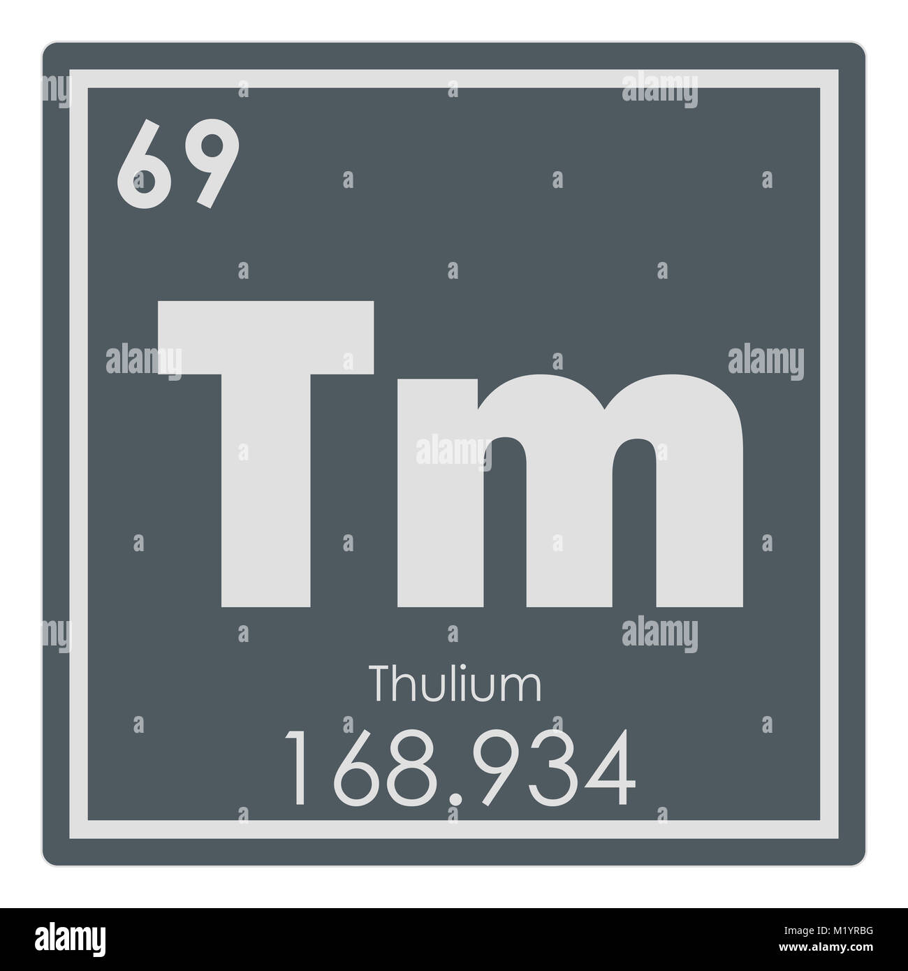 Symbol chemical element thulium stock photos symbol chemical thulium chemical element periodic table science symbol stock image urtaz Gallery