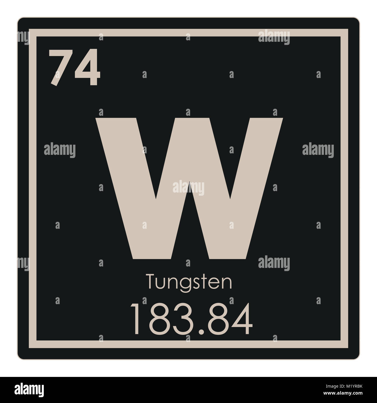 Tungsten chemical element periodic table science symbol stock photo tungsten chemical element periodic table science symbol urtaz Image collections