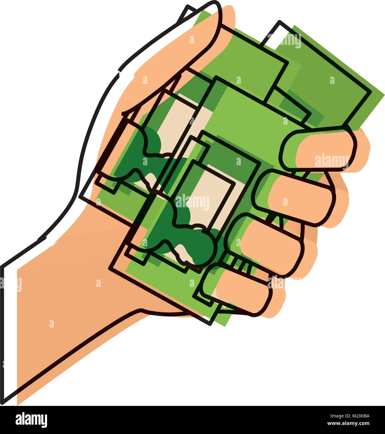 hand with id cards icon - Stock Image