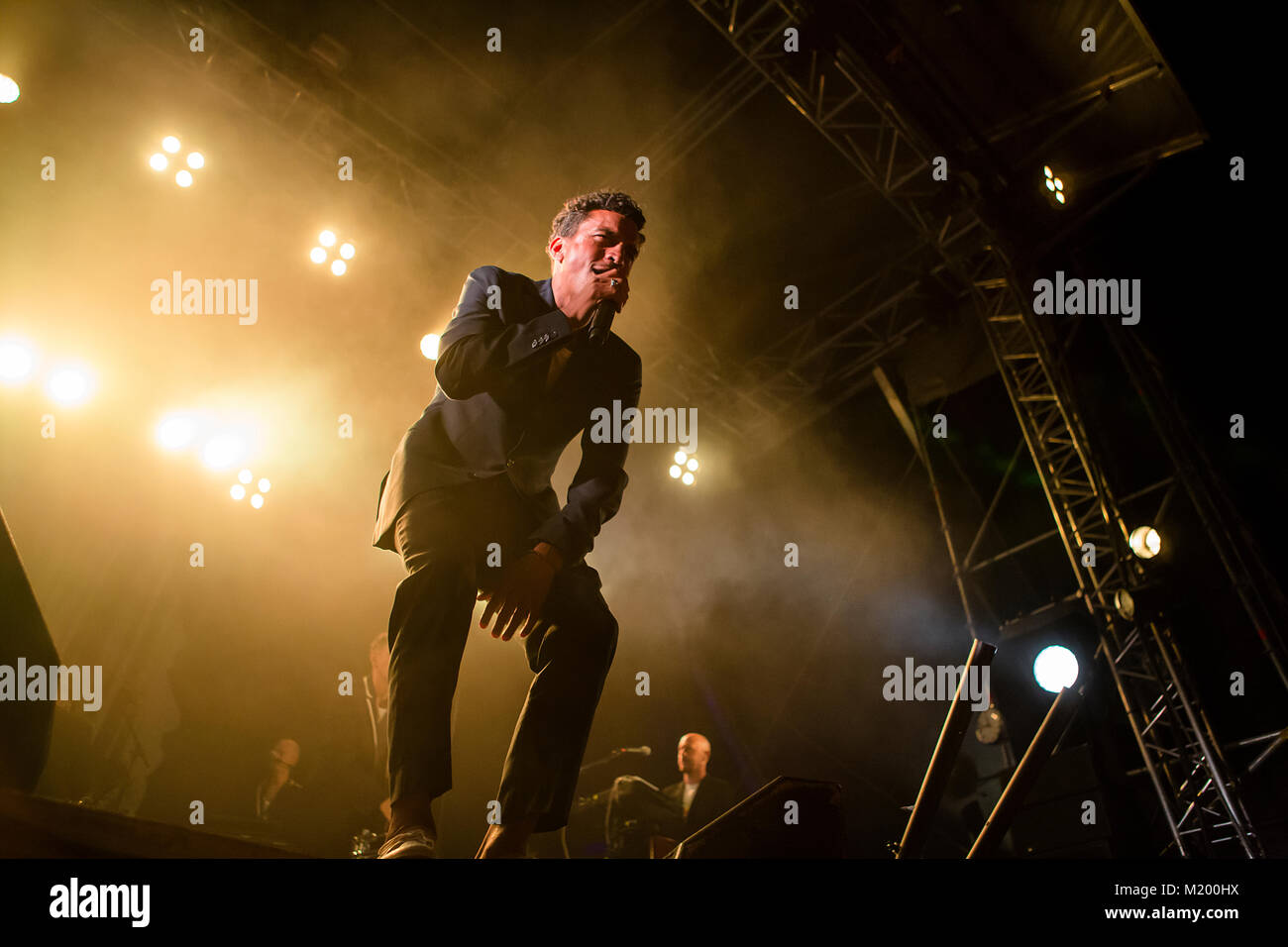 The Swedish rapper and reggae singer Timbuktu performs a