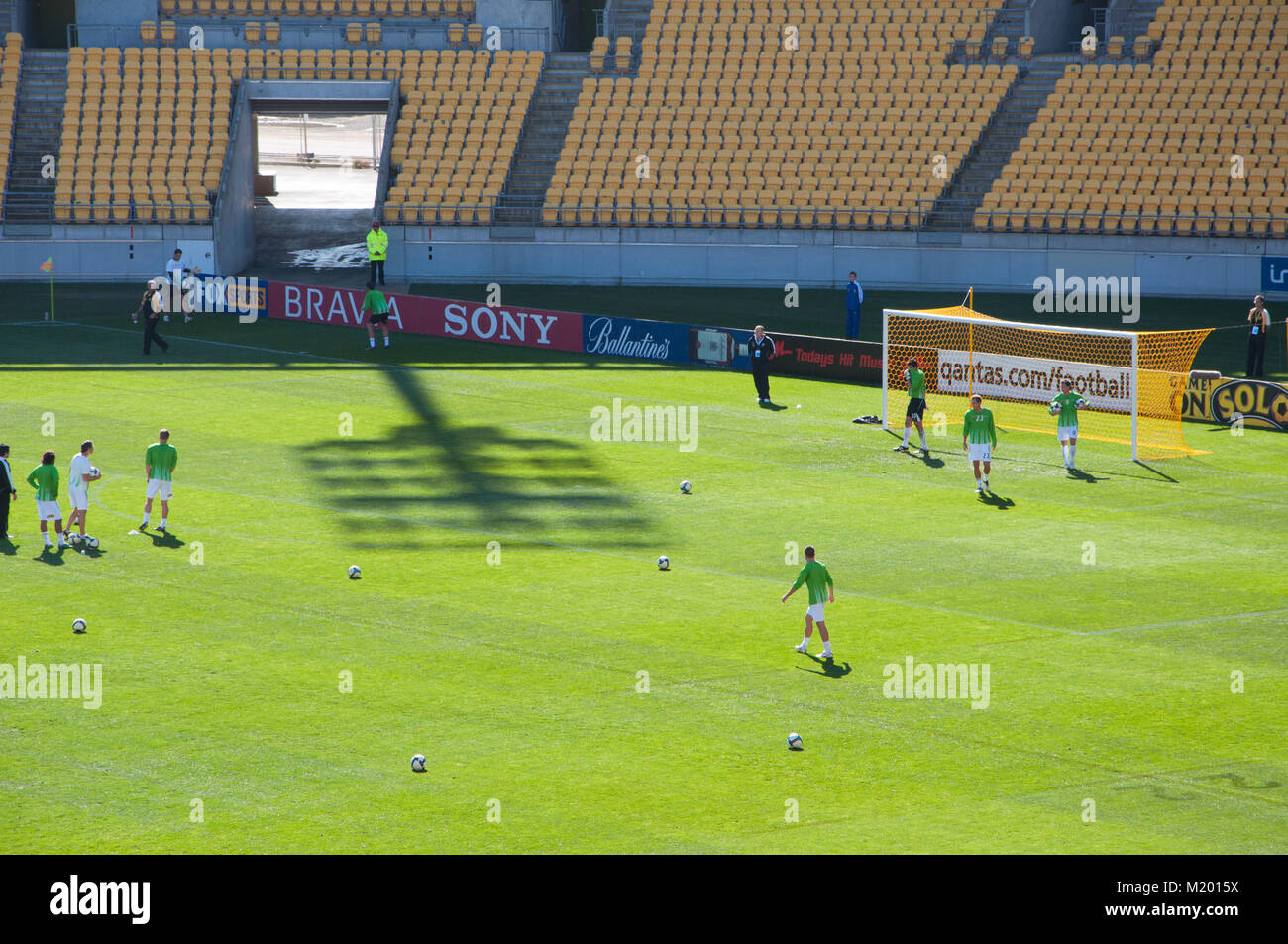 Soccer Players Warming Up - Stock Image
