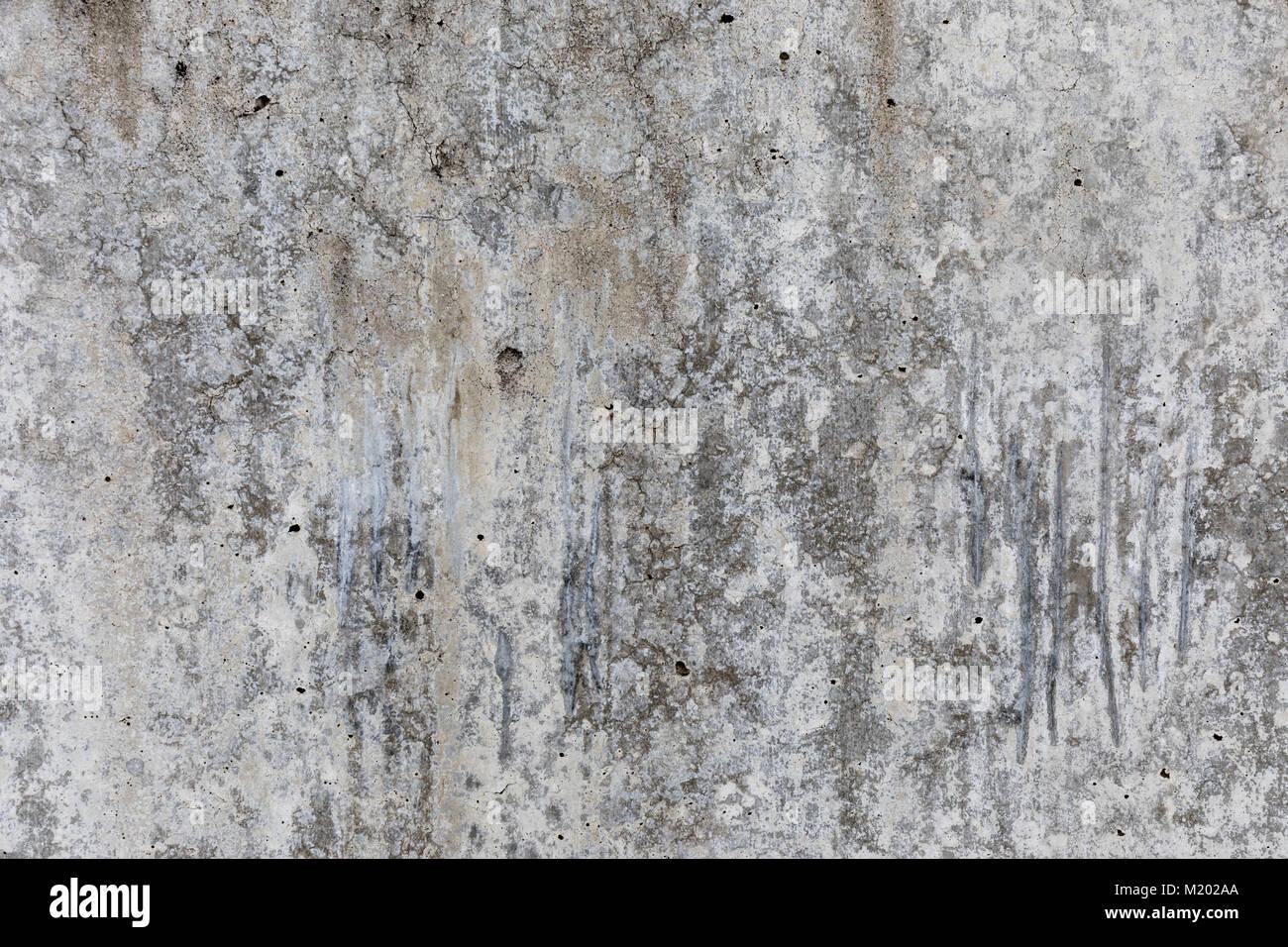 Weathered concrete wall; Suginami, Tokyo - Stock Image