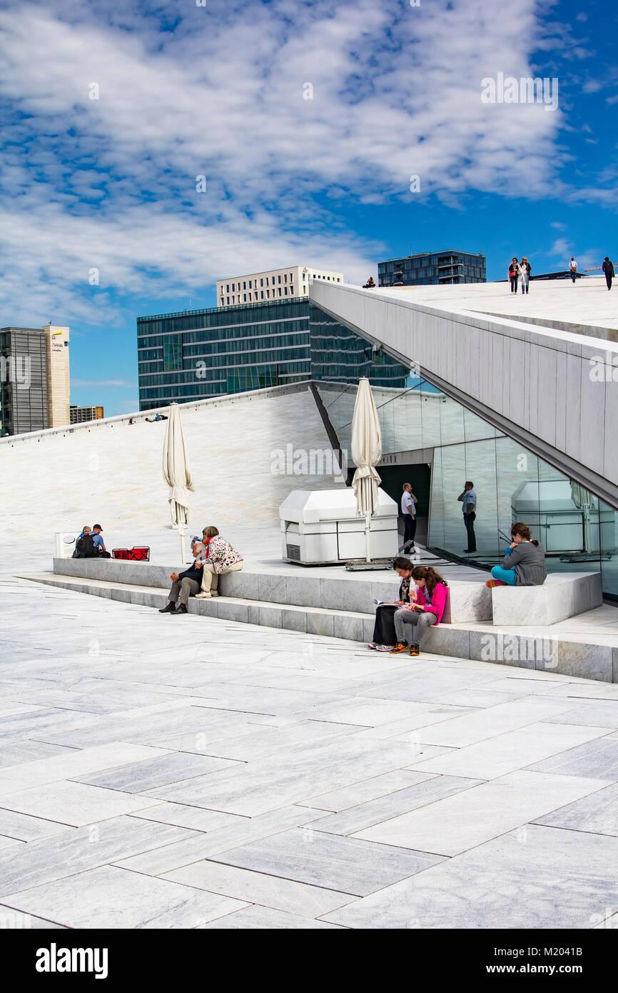 Opera House of Oslo, Norway - Stock Image