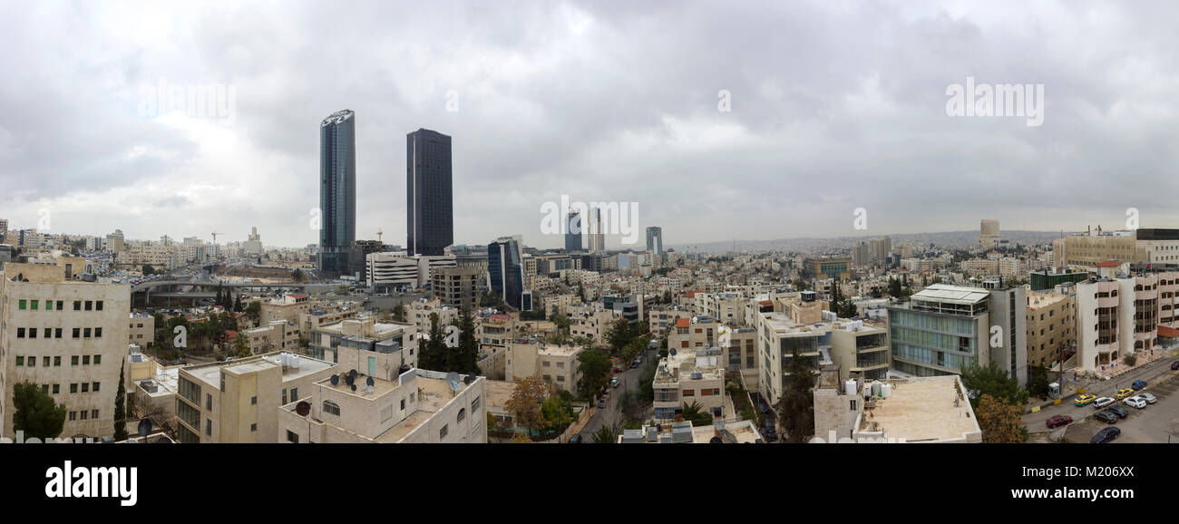 Panoramic View The New Downtown Of Amman Abdali Area