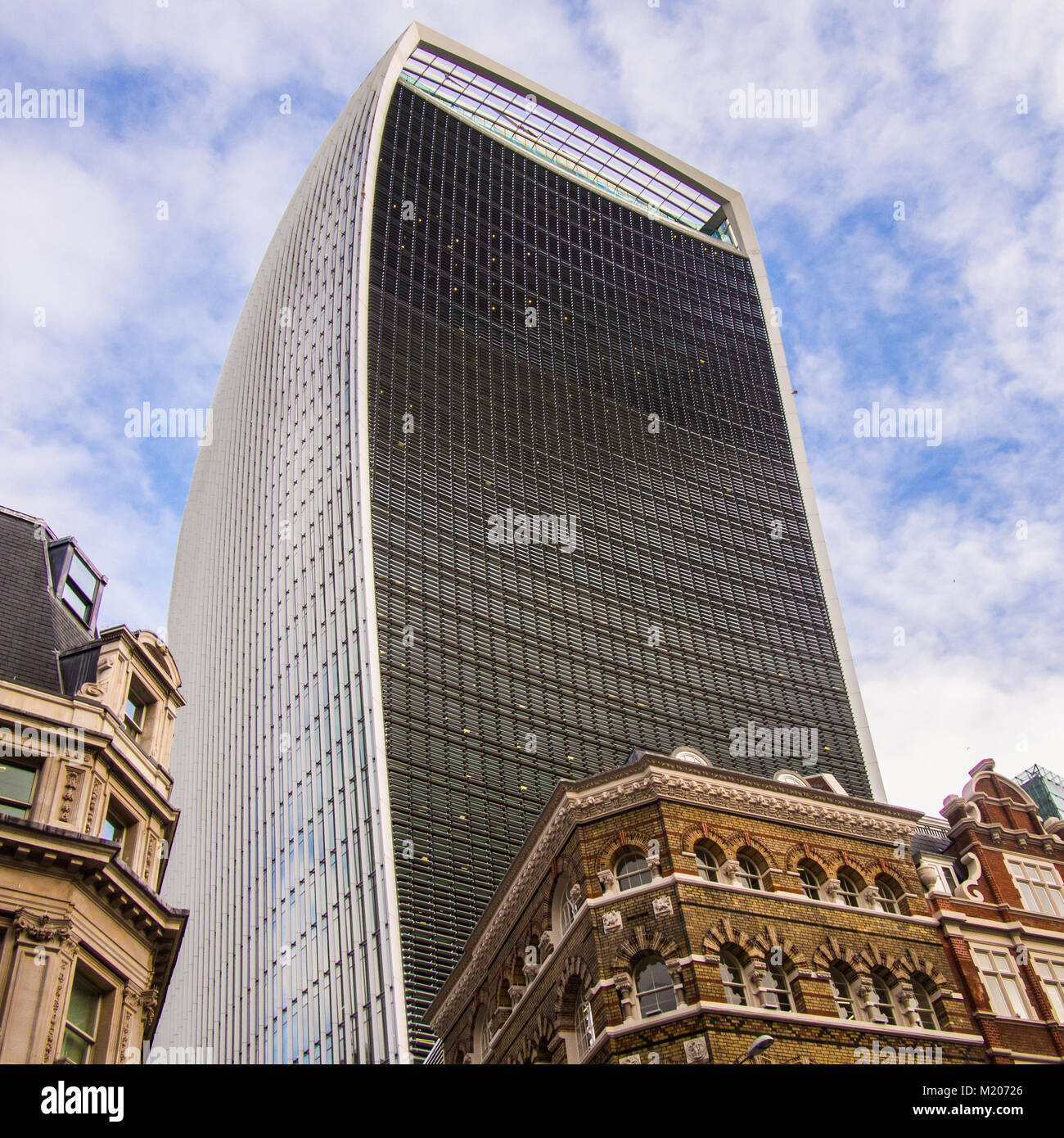 Skyscraper at 20 Fenchurch St London aka 'The Walkie Talkie'. Home to the 'Sky garden' - Stock Image
