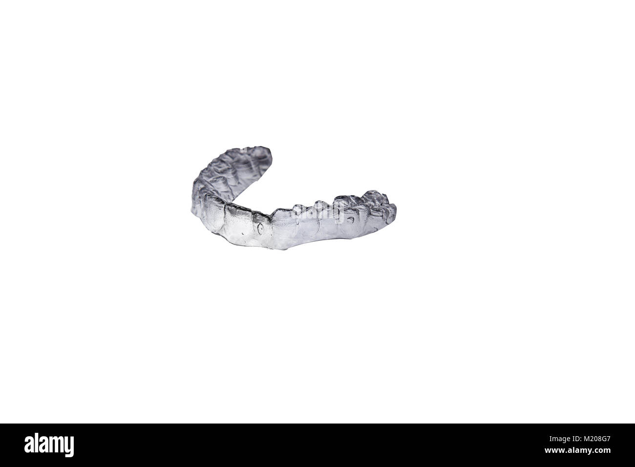 Isolated invis aligner view from studio Stock Photo