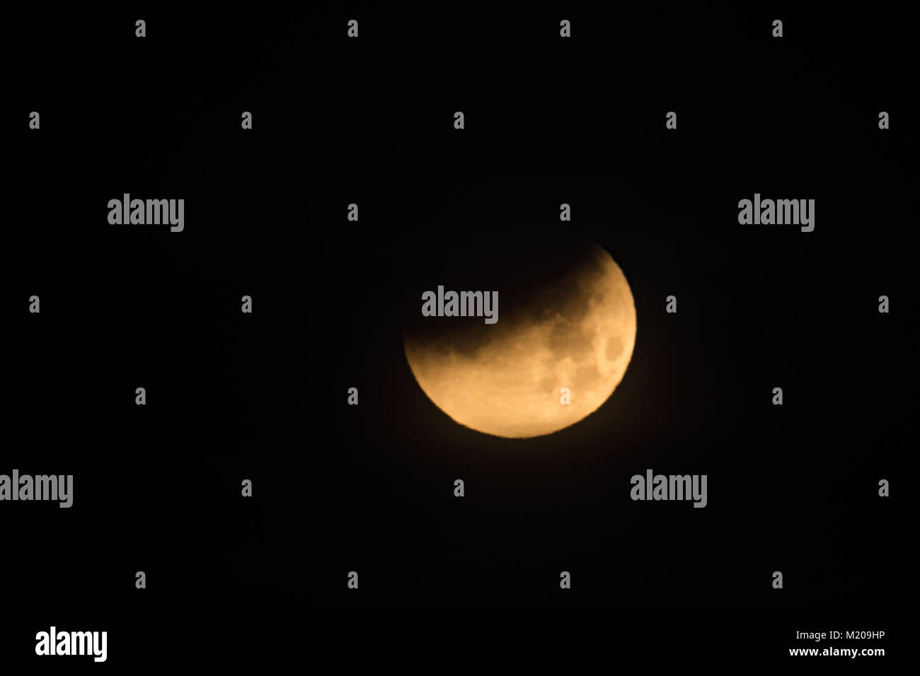 Lunar Eclipse, 31 January 2018, Knoxville, TN, USA - Stock Image