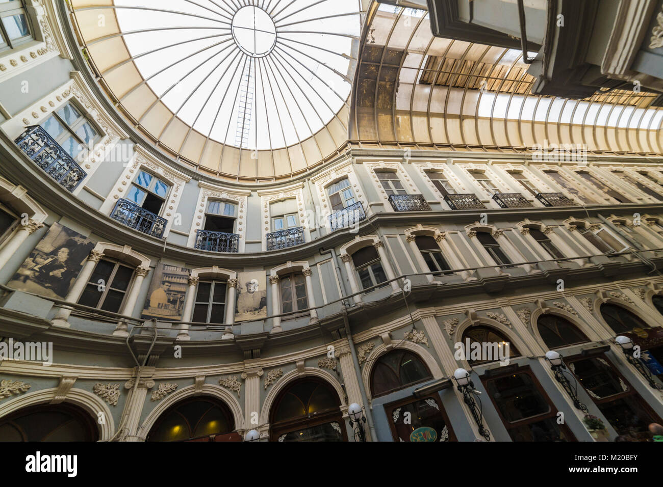 Istanbul, Turkey - May 19, 2017: Inside view from passage of Cicek, where is the most known pub of Istanbul Stock Photo